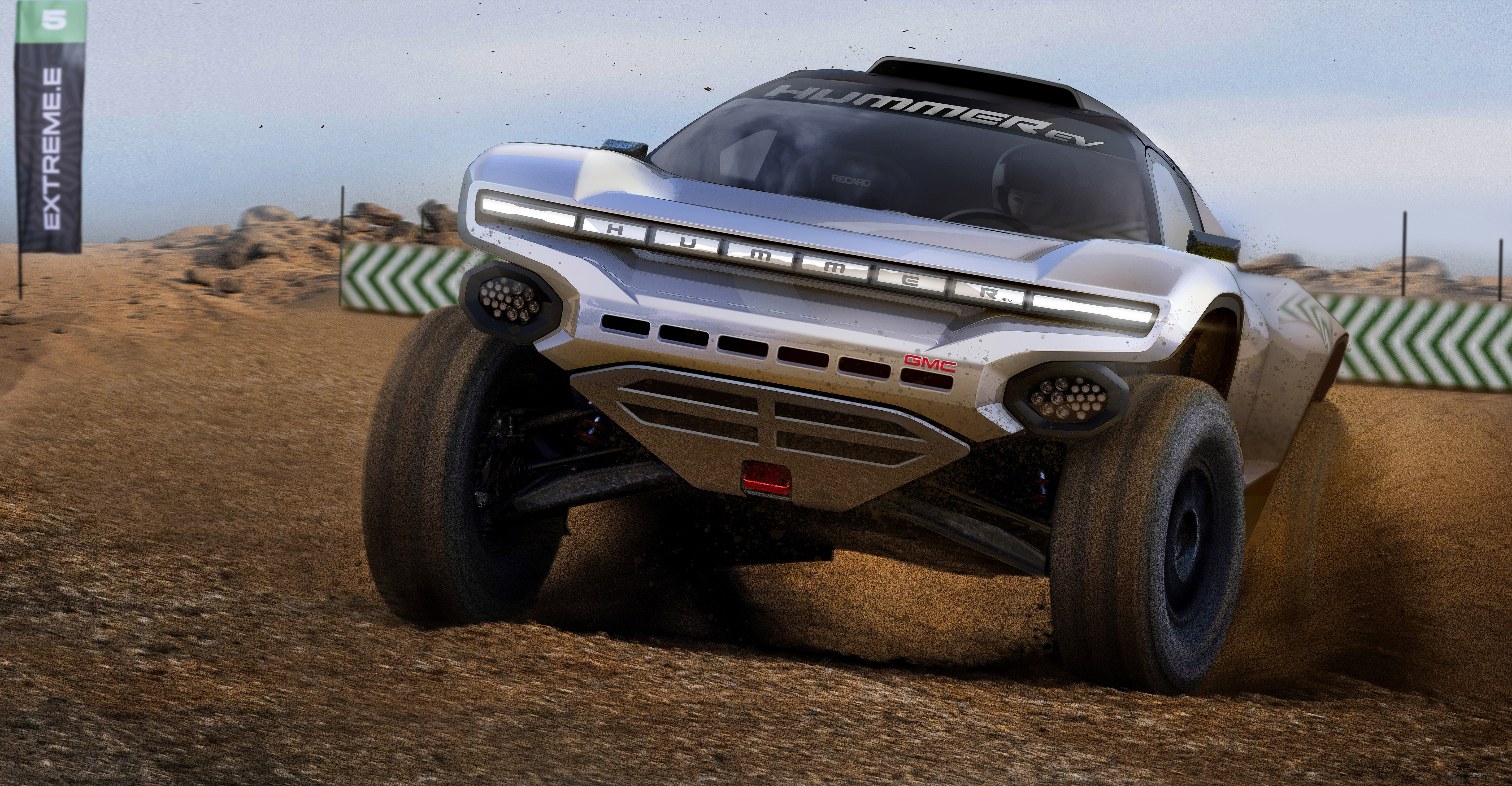 GMC and Chip Ganassi Racing prepare to take a Hummer EV-inspired racer to Extreme E