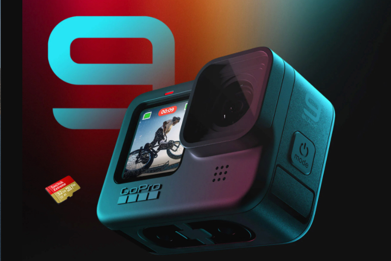 The GoPro Hero9 Black sells for US$449.99, or $349.98 if buyers commit to one year of the GoPro subscription service