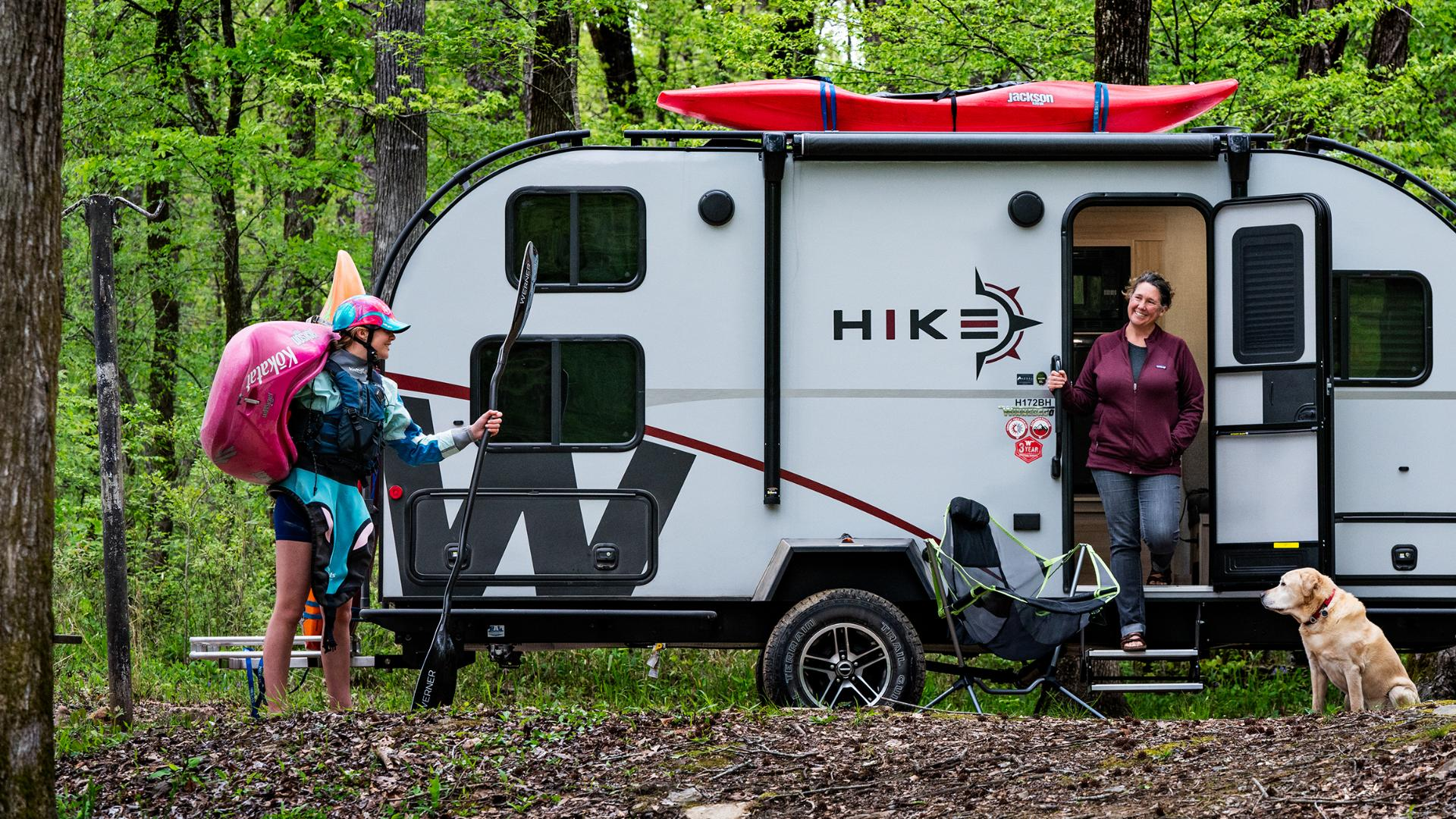 The Hike was designed as a sportier, more versatile breed of camping trailer, able to accommodate all kinds of gear