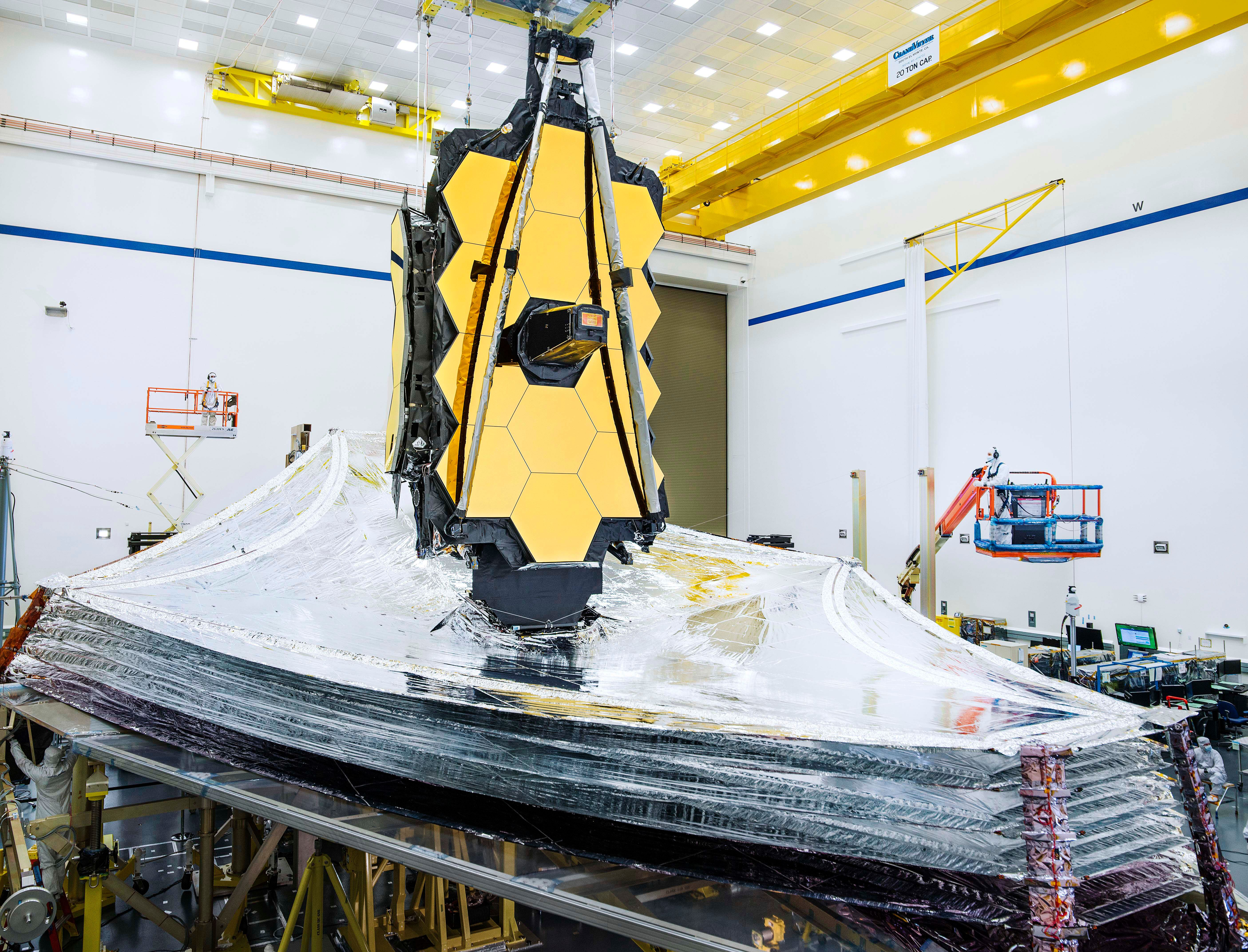 NASA successfully tests James Webb Space Telescope sunshield
