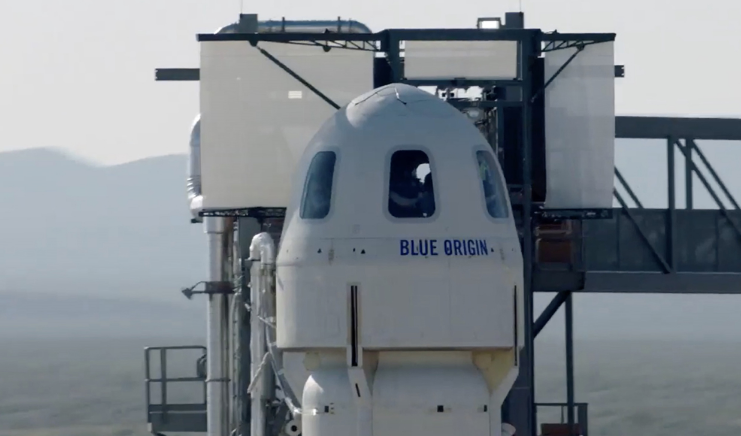 Blue Origin is auctioning a seat on its first crewed flight to space in July