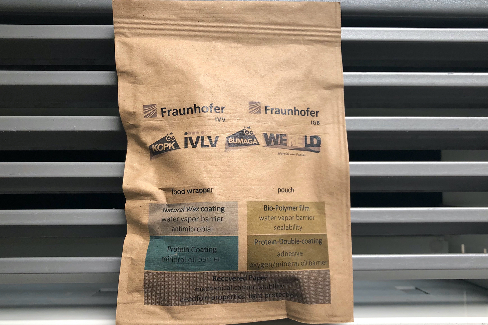 Product branding and other information can be printed on the bag, just as it would on any other paper packaging material