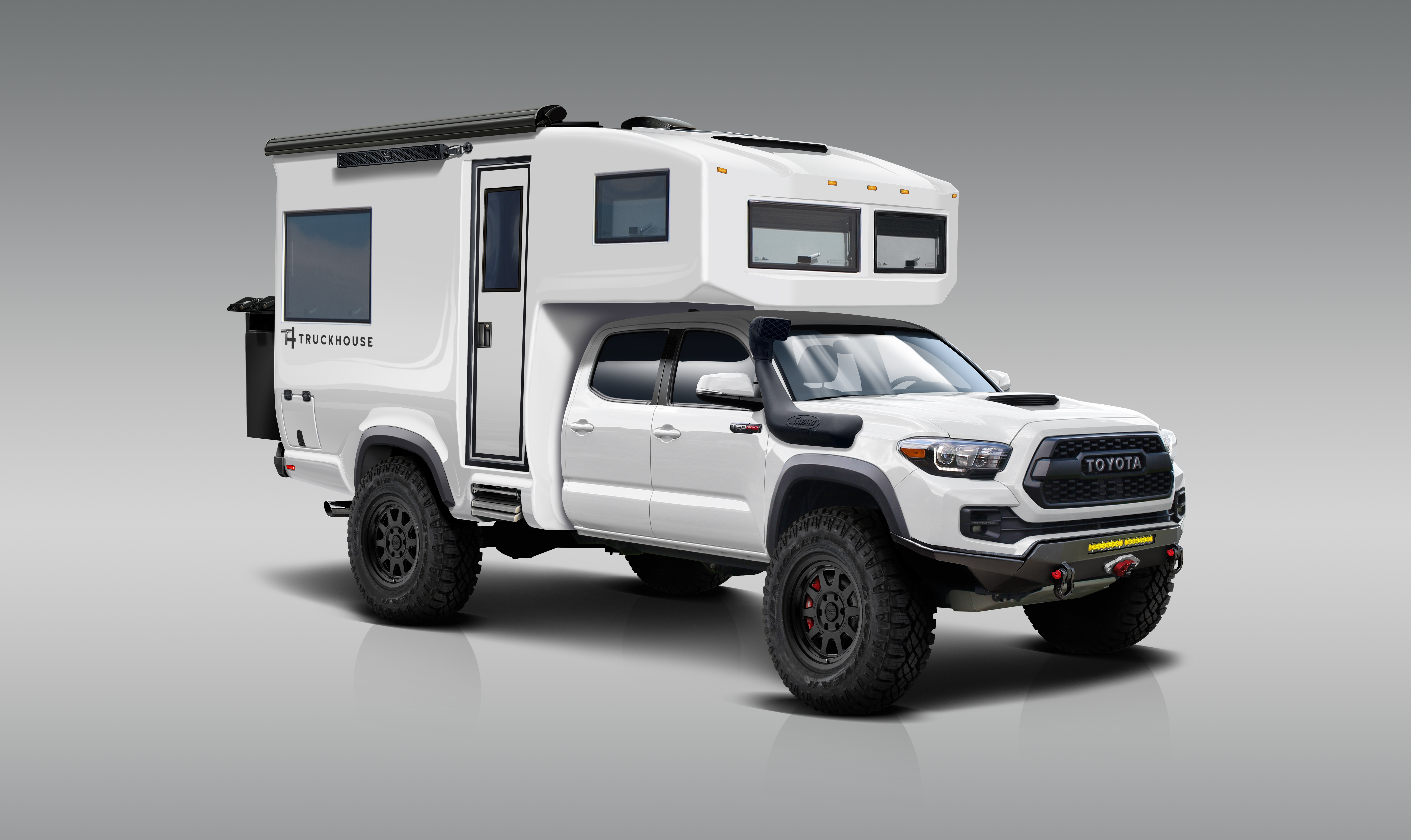 TruckHouse keeps things light but comfortable with a single-piece carbon-reinforced composite camper module