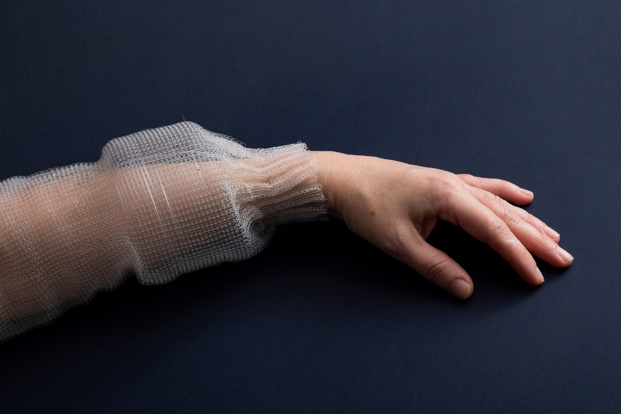 MIT's digital fabric, demonstrated as a sleeve