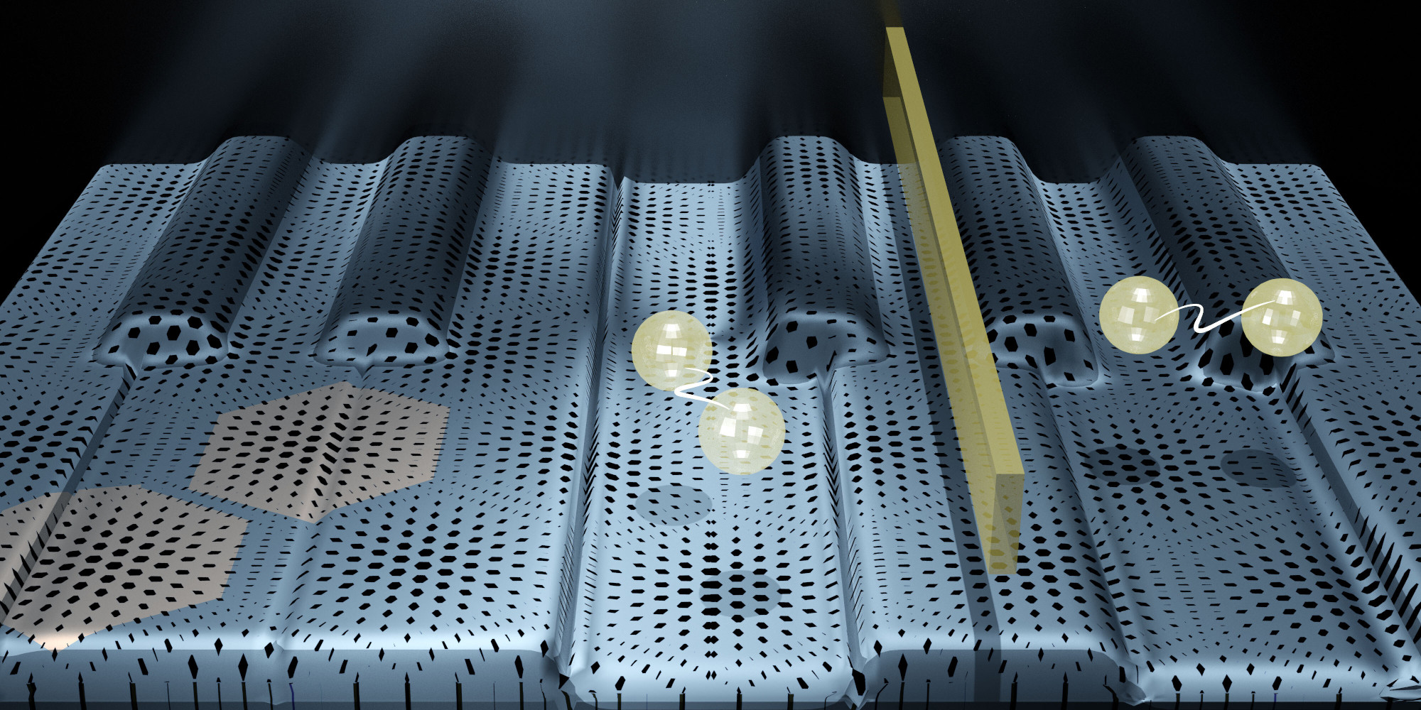 Researchers have created graphene electronic devices that are both insulators and superconductors at the same time, in different parts of the material