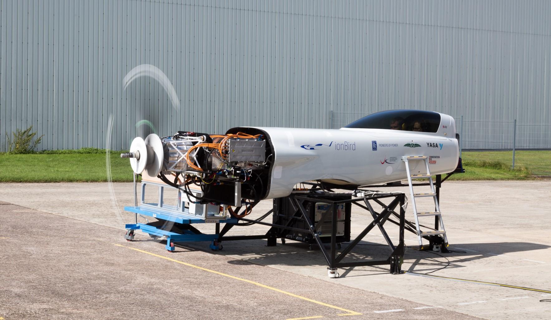The ionBird testing rig