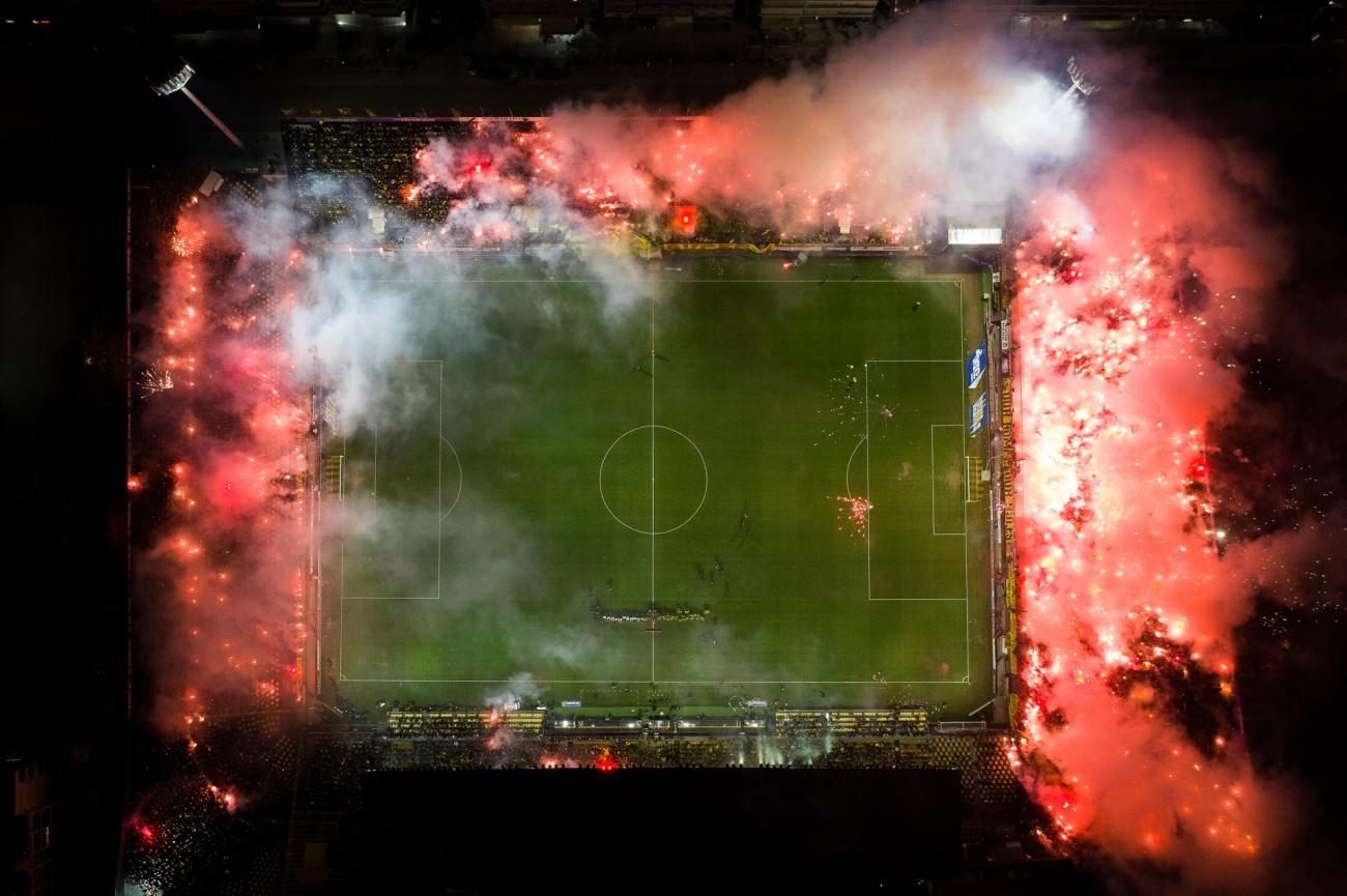 Commended - Sport. Kleanthis Vikelidis stadium in flames