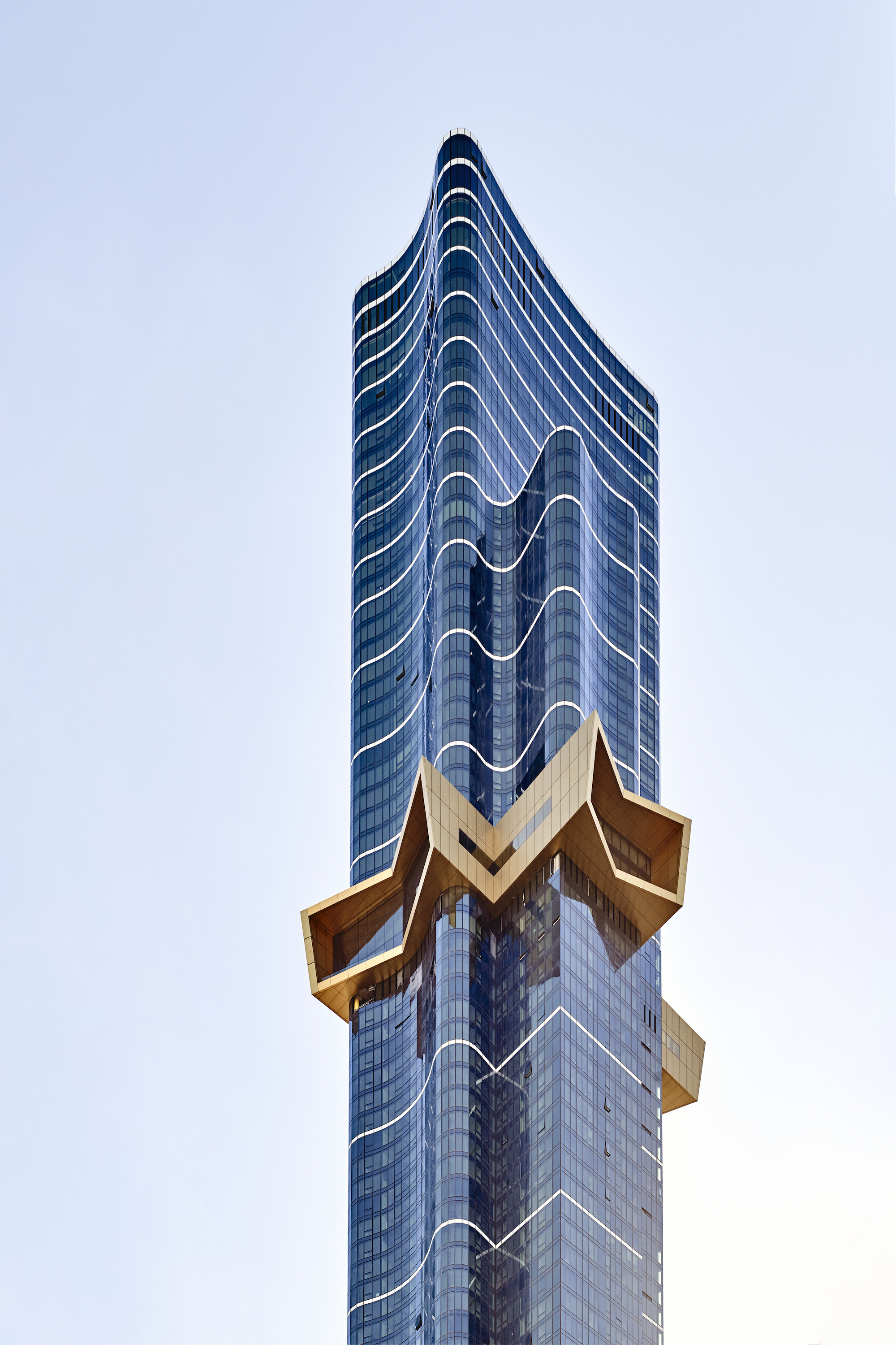 Australia 108's Starburst is situated roughly two-thirds of the way up the building