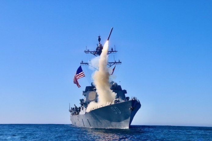 A recent test launch of a Tomahawk missile