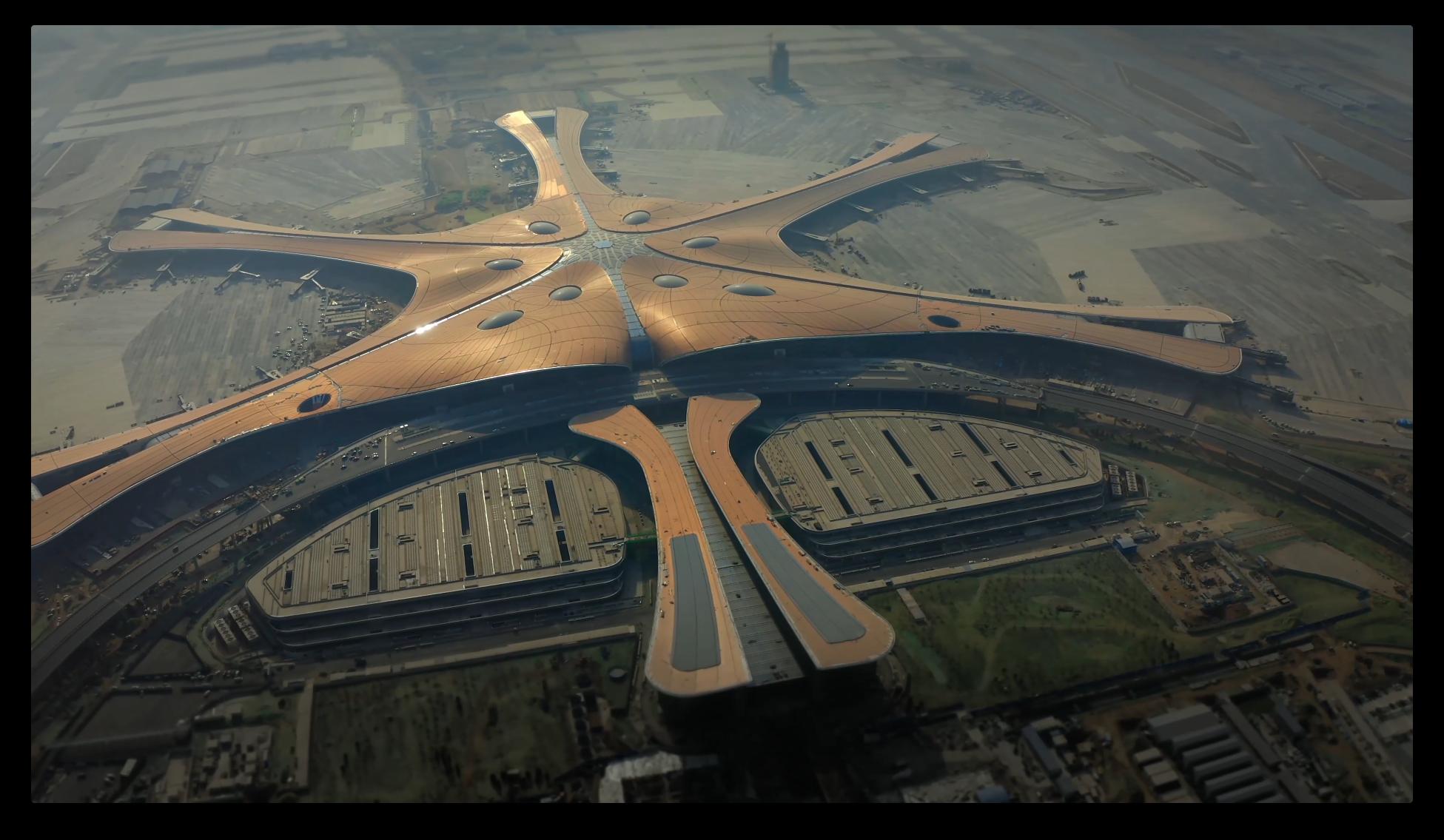 Zaha Hadid's starfish-like airport inaugurated in China