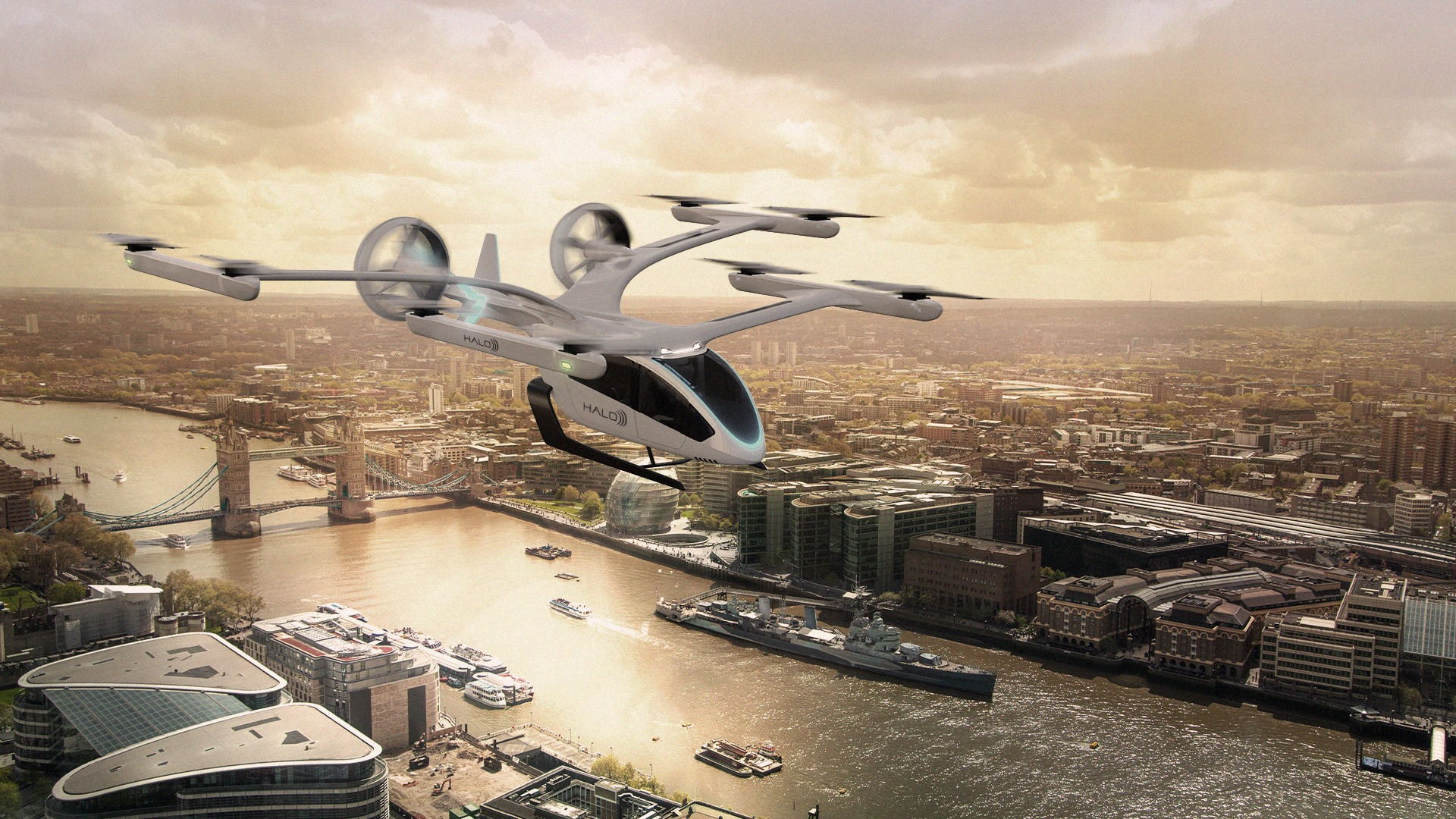 Halo has announced an order for 200 Eve eVTOLS, to be phased into air mobility operations in the UK and US from 2026