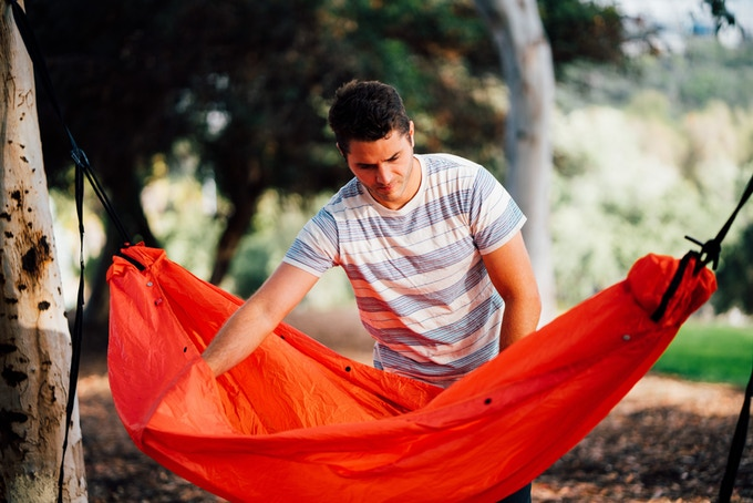 Campo hammock shelter can be worn as a rain poncho