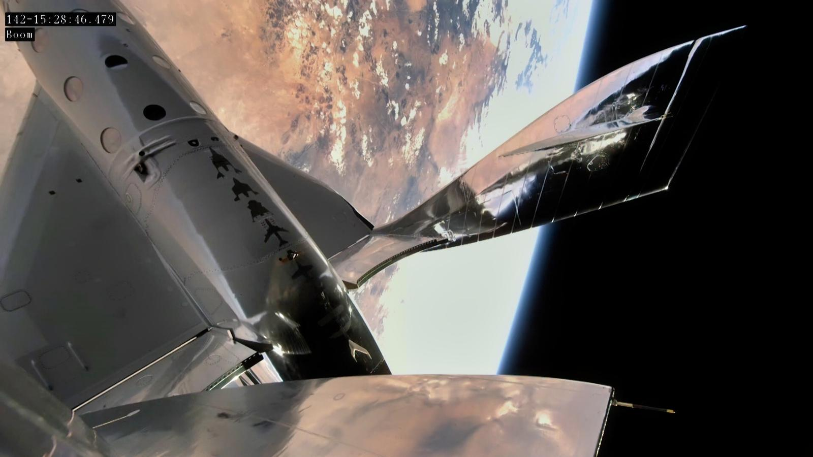 The view from space for Virgin Galactic's VSS Unity spaceplane