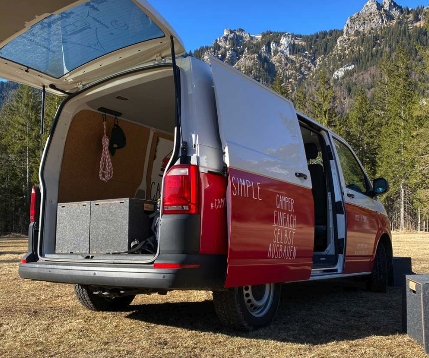 Camp it Simple Cubes create a flexible VW sleeper van