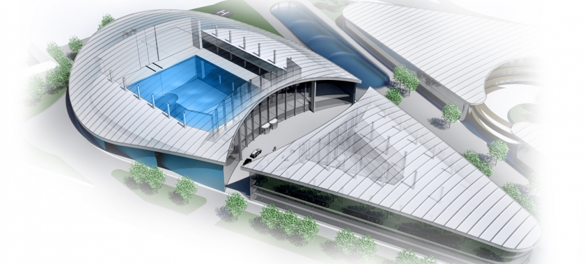 Artist's rendering of the Blue Abyss complex