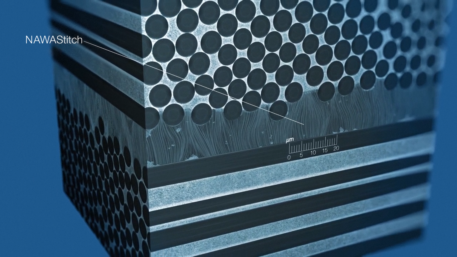NawaStitch will use vertically aligned carbon nanotubes to reinforce the weakest part of carbon composites – the glue between the layers – to make parts even lighter and stronger