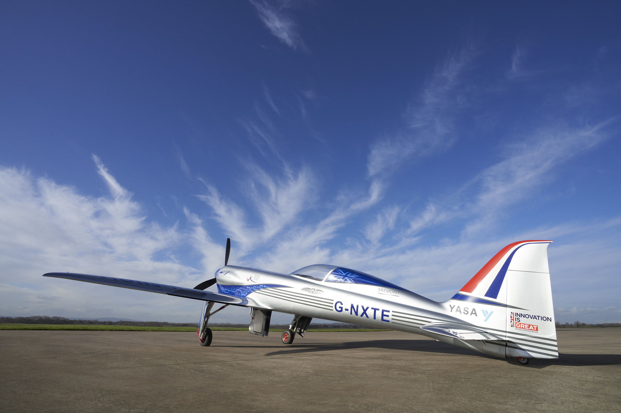 The first flight for the Spirit of Innovation is expected to take place this European springtime