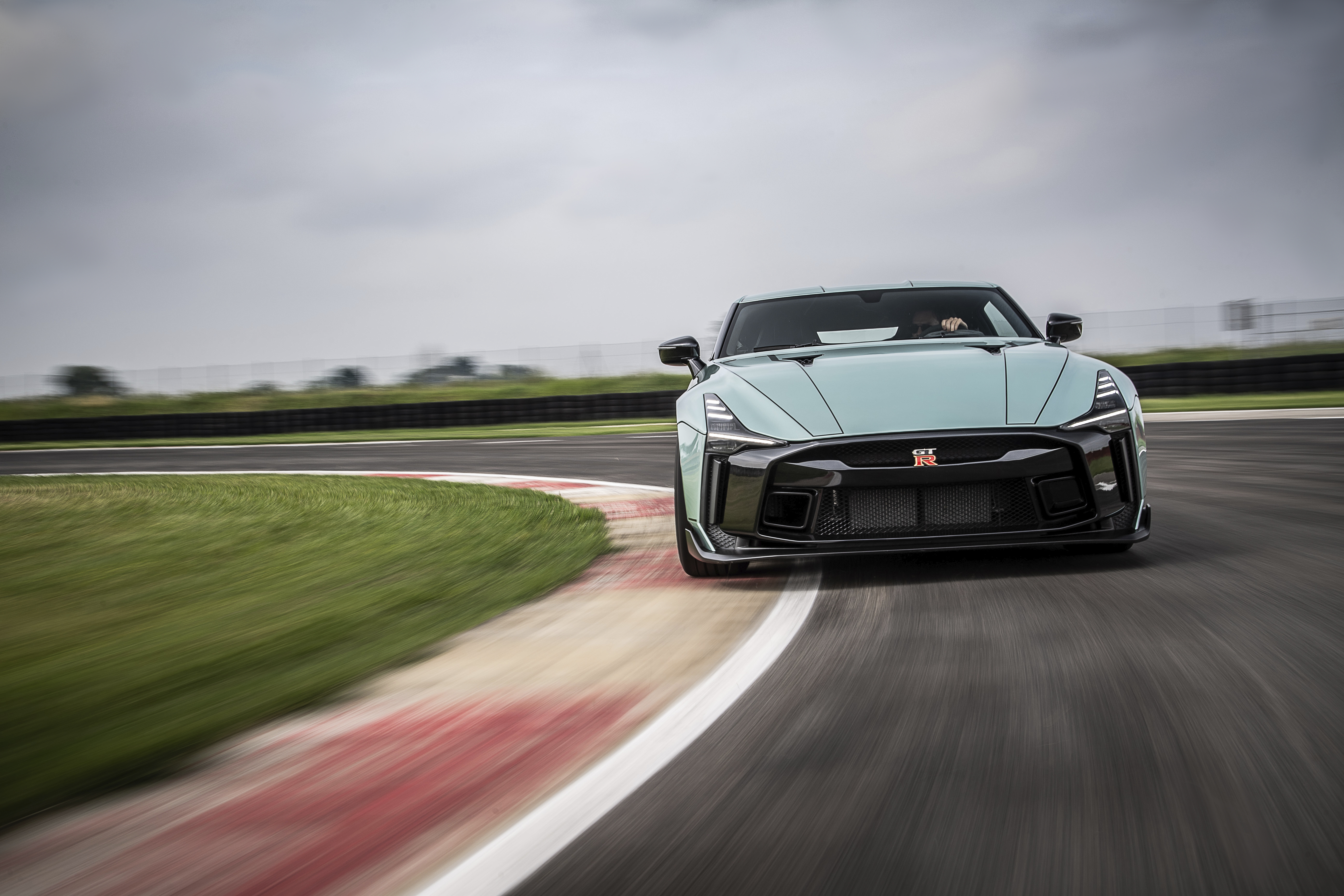 Nissan has been putting the production version of the Nissan GT-R 50 through its paces at the Tazio Nuvolari circuit in Italy