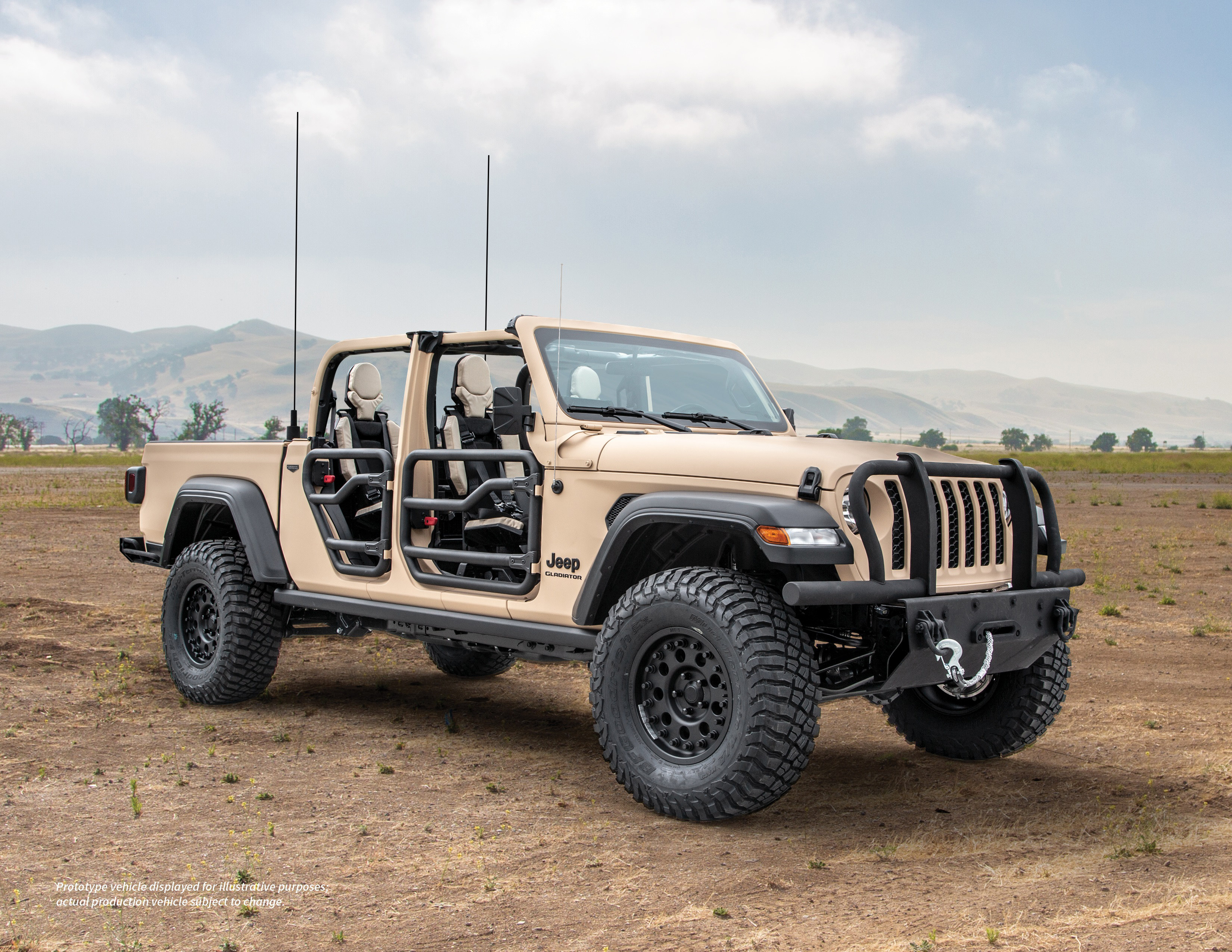 Mil-spec Jeep Gladiator places pickup versatility on active duty