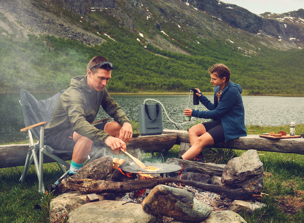 The HYD combo creates a makeshift RV/car camping faucet system that moves easily around camp