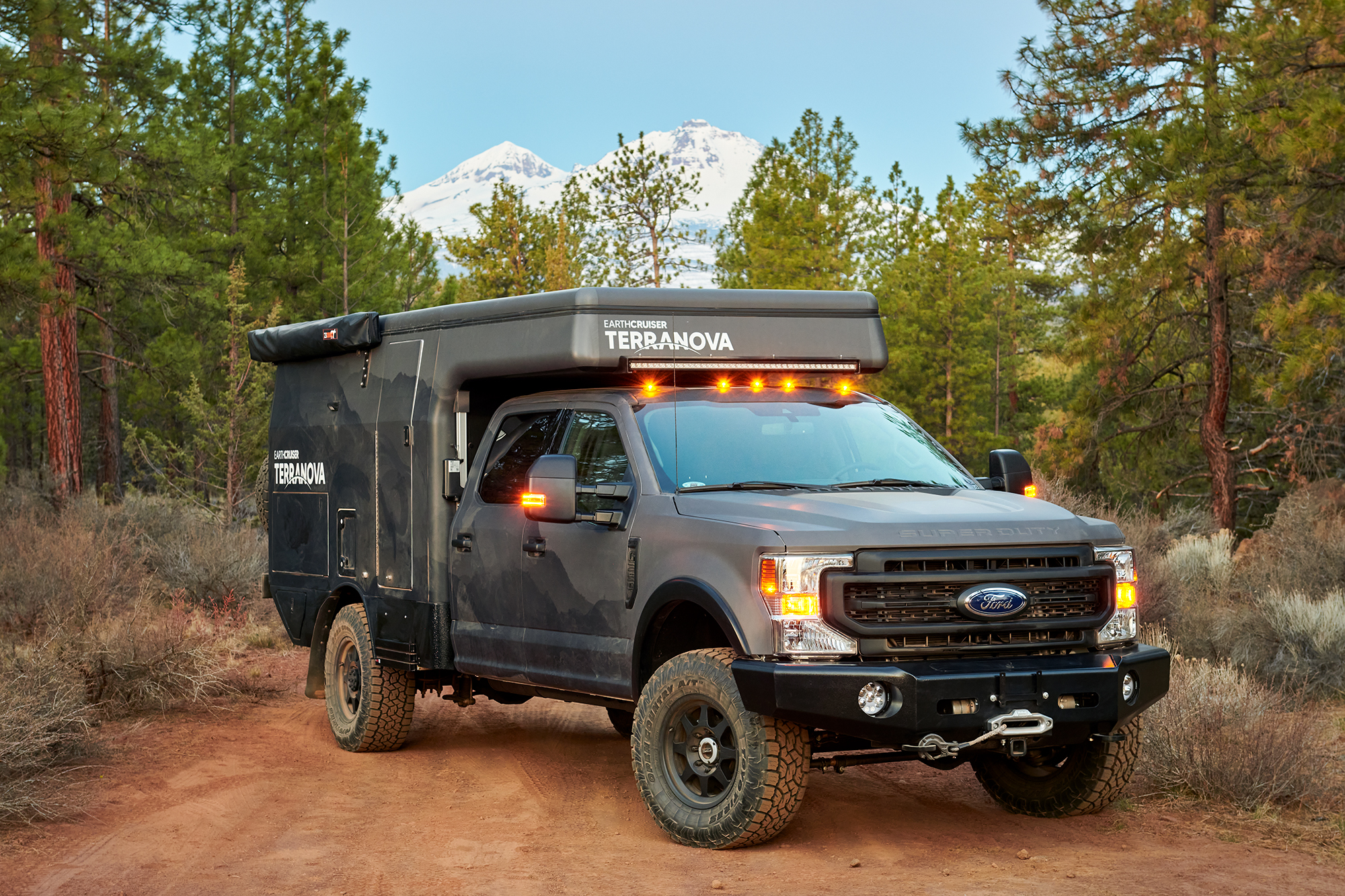 EarthCruiser turns the Ford F-350 into an all-season, all-terrain expedition motorhome