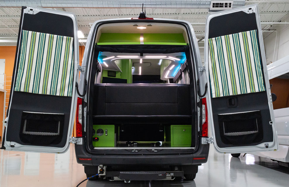 $300K camper van goes green in more ways than one