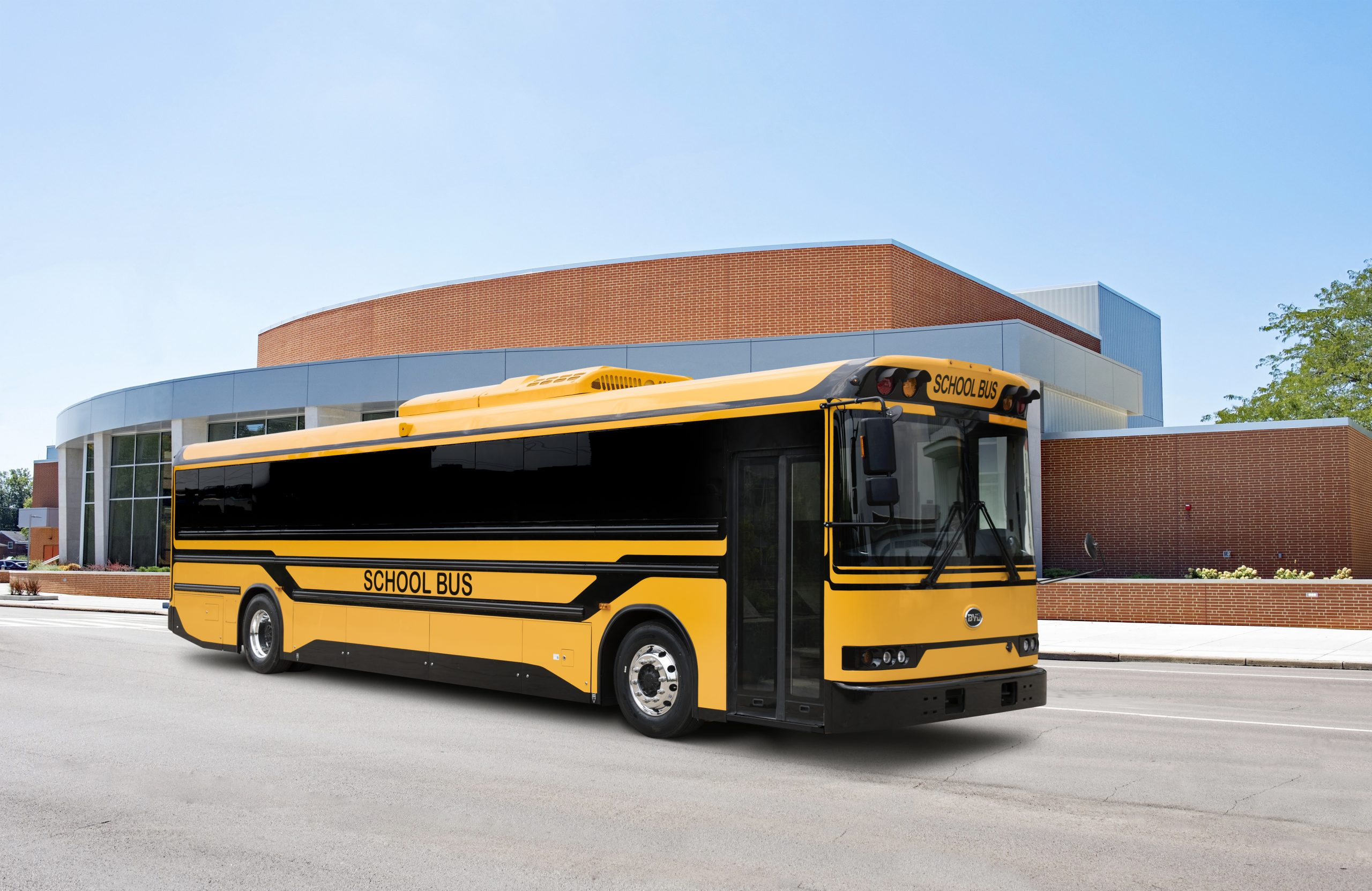 BYD has unveiled an electric school bus with bi-directional charging