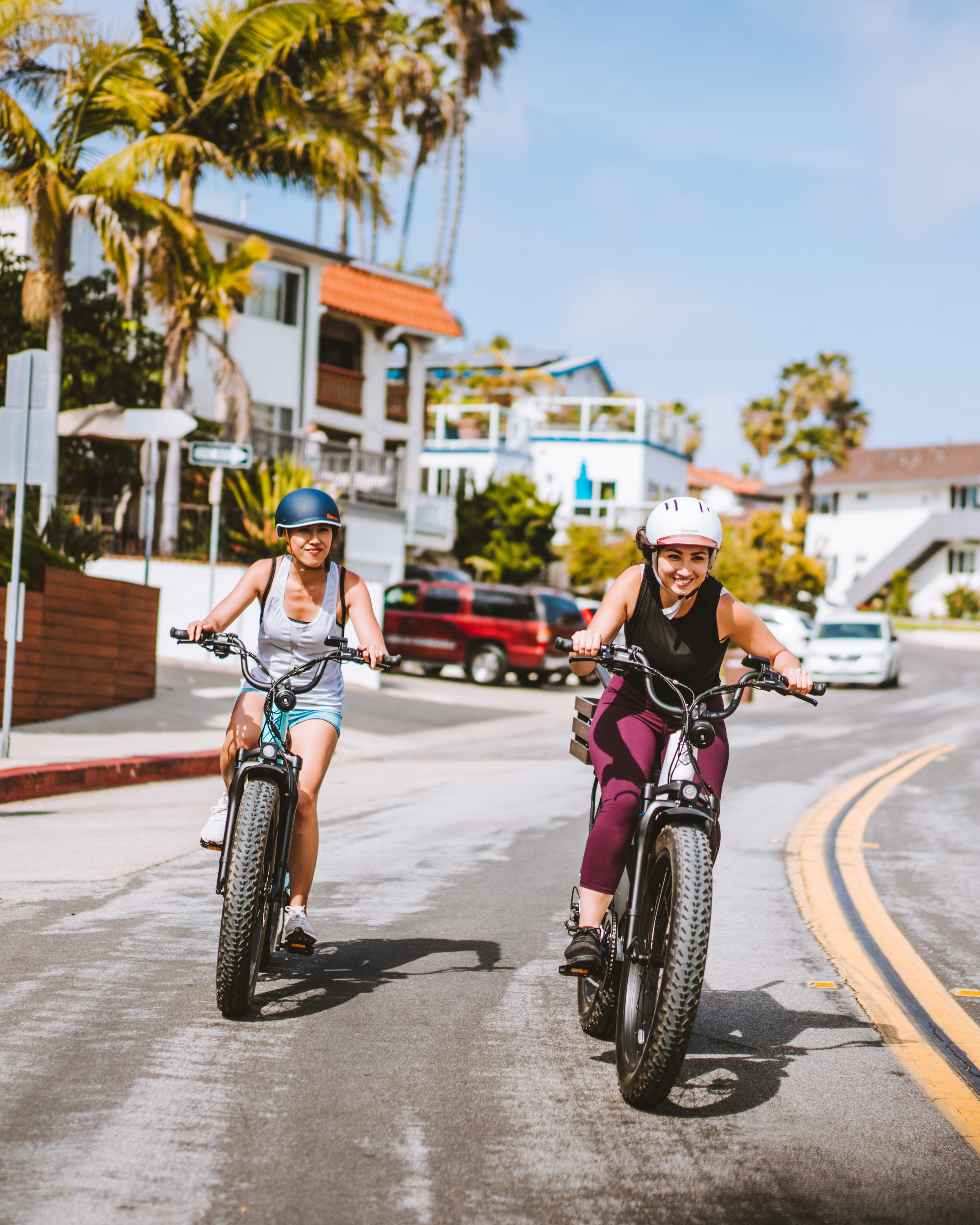 The RipCurrent S Step-Through fat-tire ebike has both cadence and torque pedal-assist sensing, and a thumb throttle too