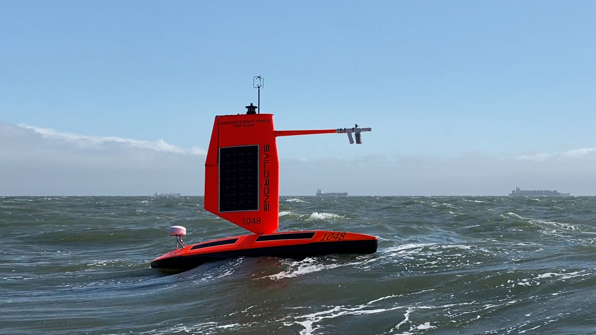 The storm-chasing Saildrones are expected to encounter winds of more than70 mph and waves over 10 feet