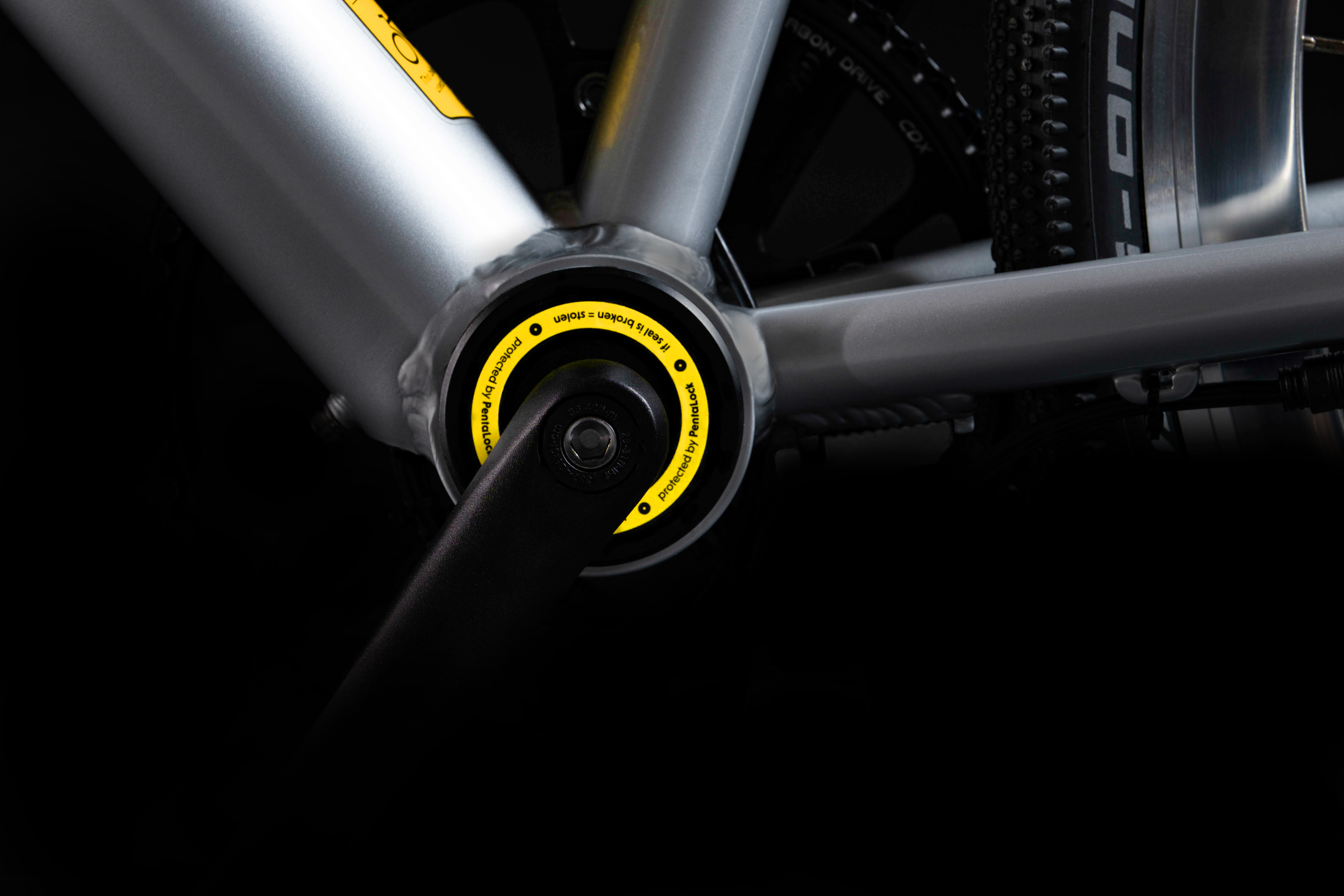 The PentaLock is designed to be built into the bike, as opposed to being retrofitted onto existing bicycles
