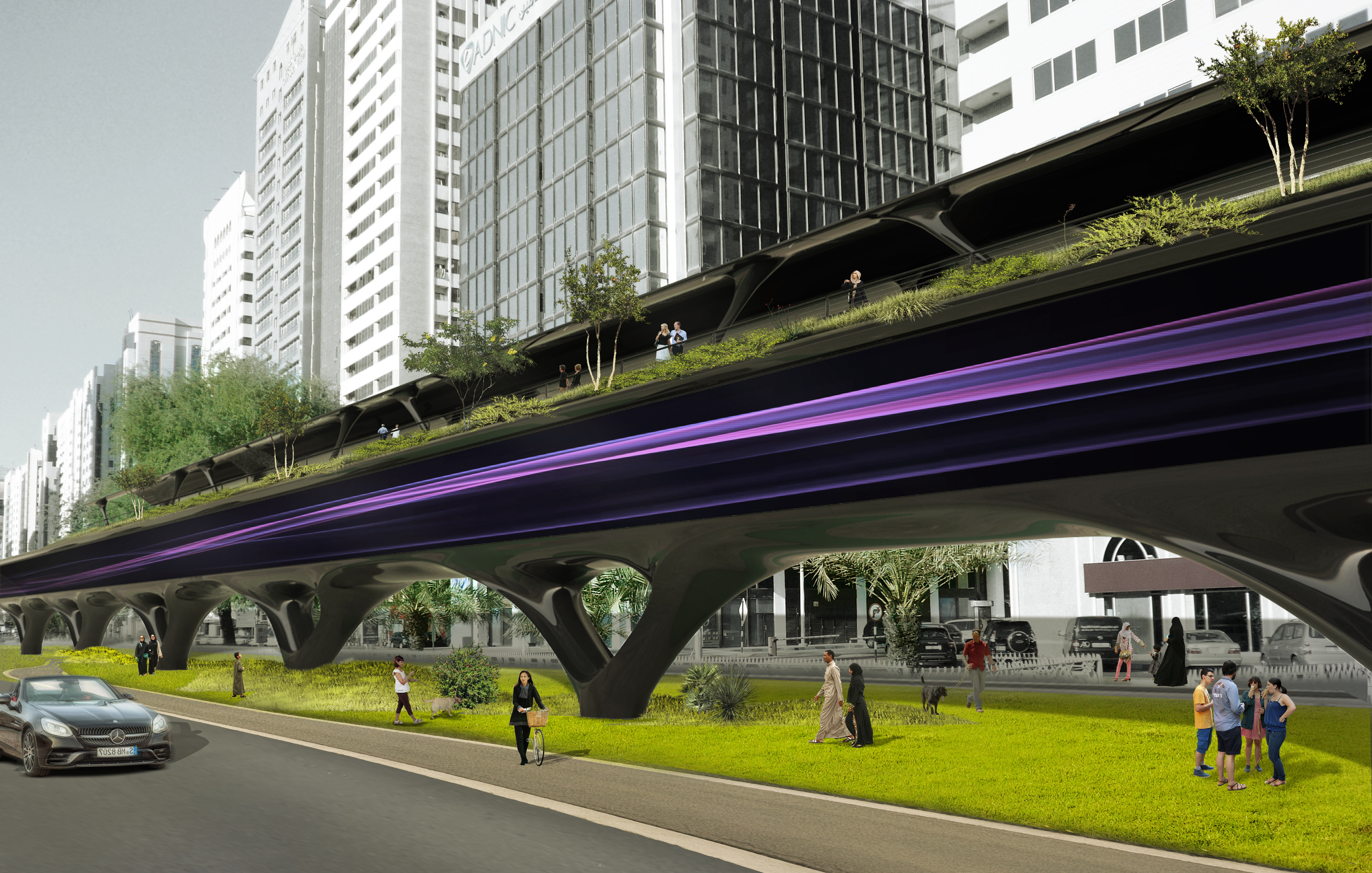 MAD imagines Hyperloop structures as urban farms