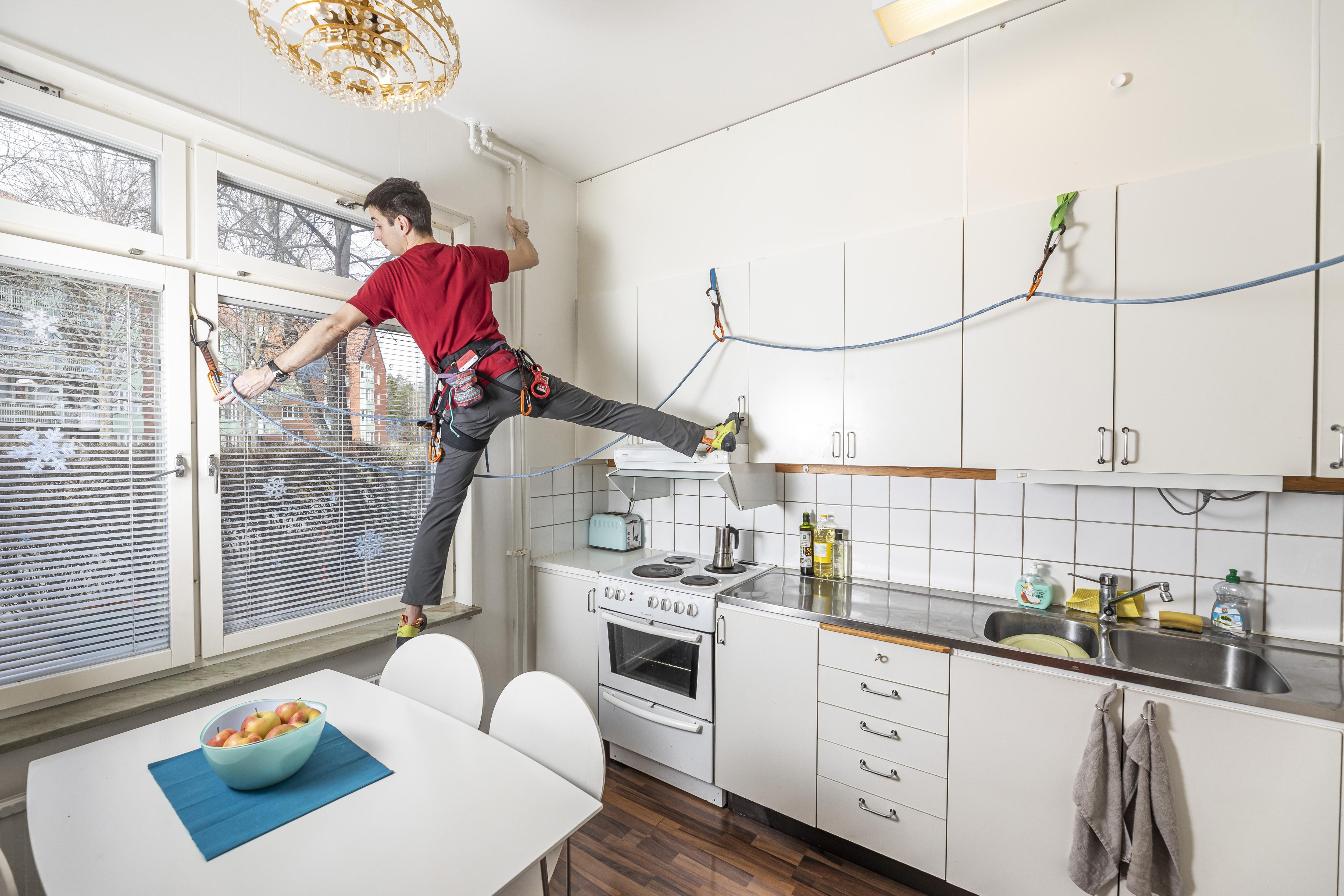 'Outdoor sports photographer in quarantine'. Stockholm, Sweden