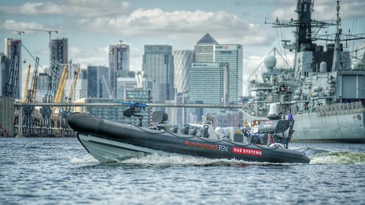 BAE integrates robotic boat with Royal Navy warship