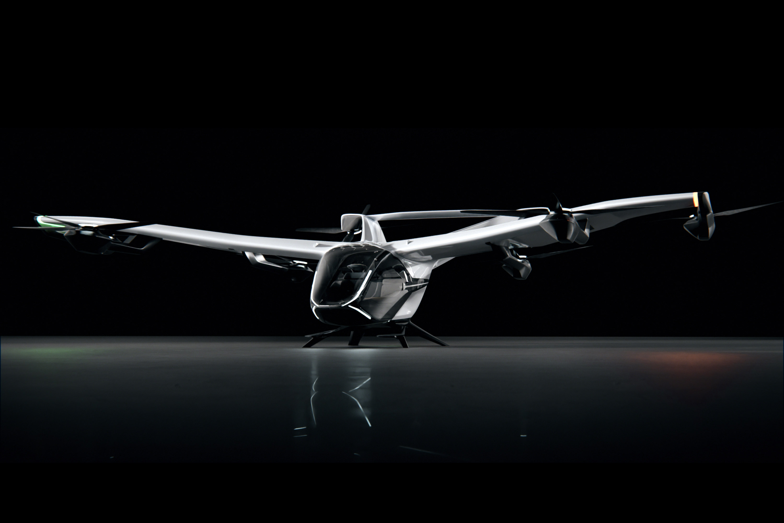 The NextGen CityAirbus eVTOL shoots surprisingly low, with four seats, a top speed of just 120 km/h, and a disappointing 80-km range