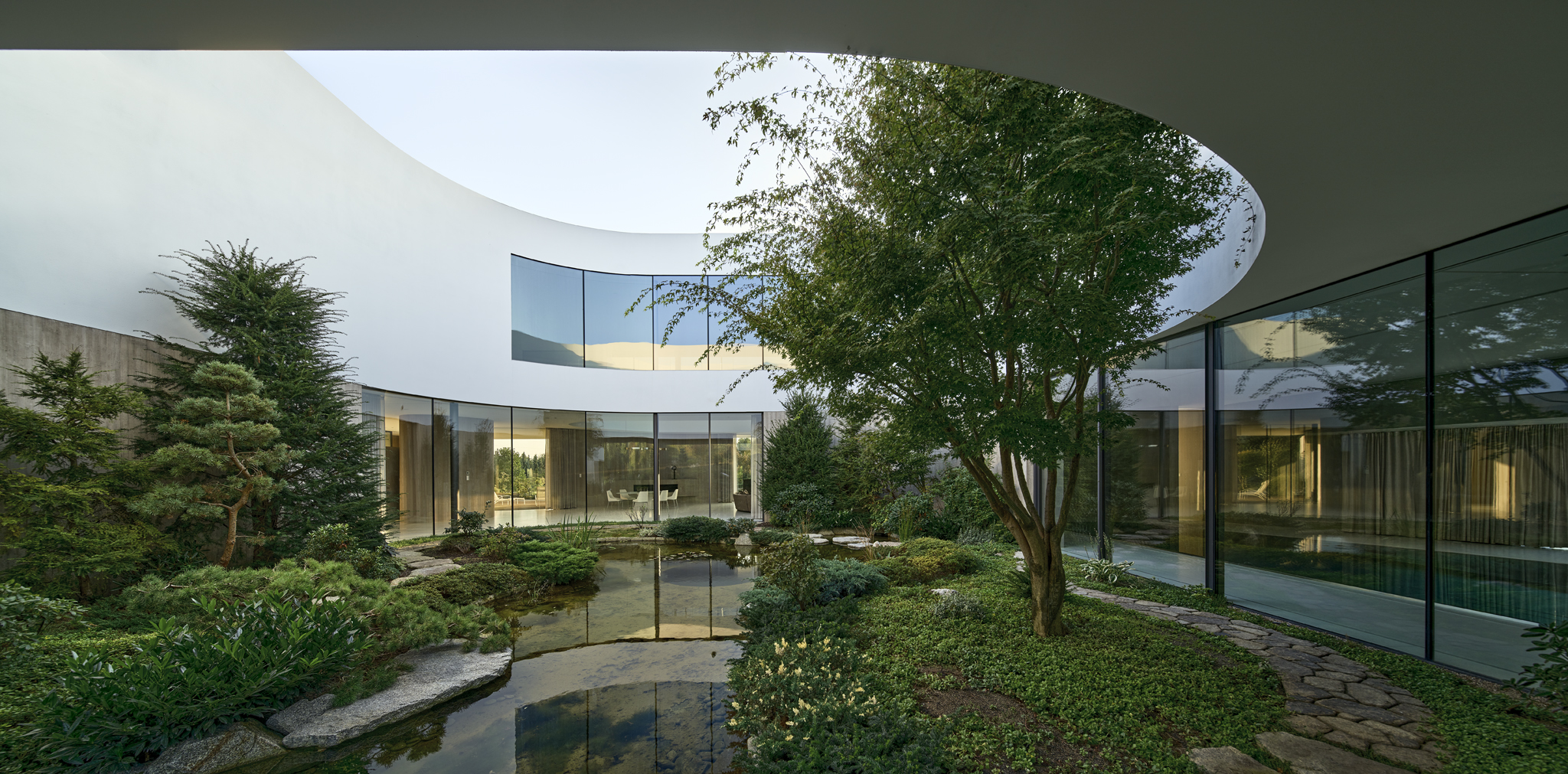 From The Garden House's extensive grounds include multiple ponds, pathways, and private areas