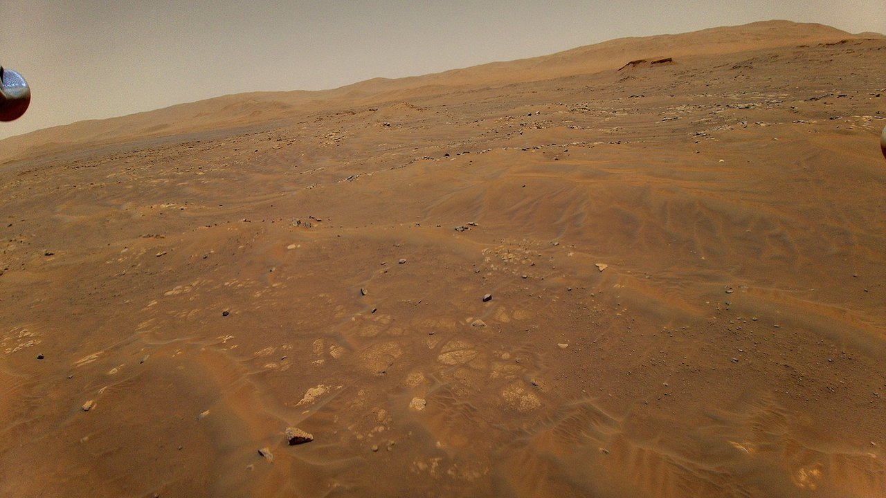 The view from the Perseverance rover looking toward the Seitah geologic unit