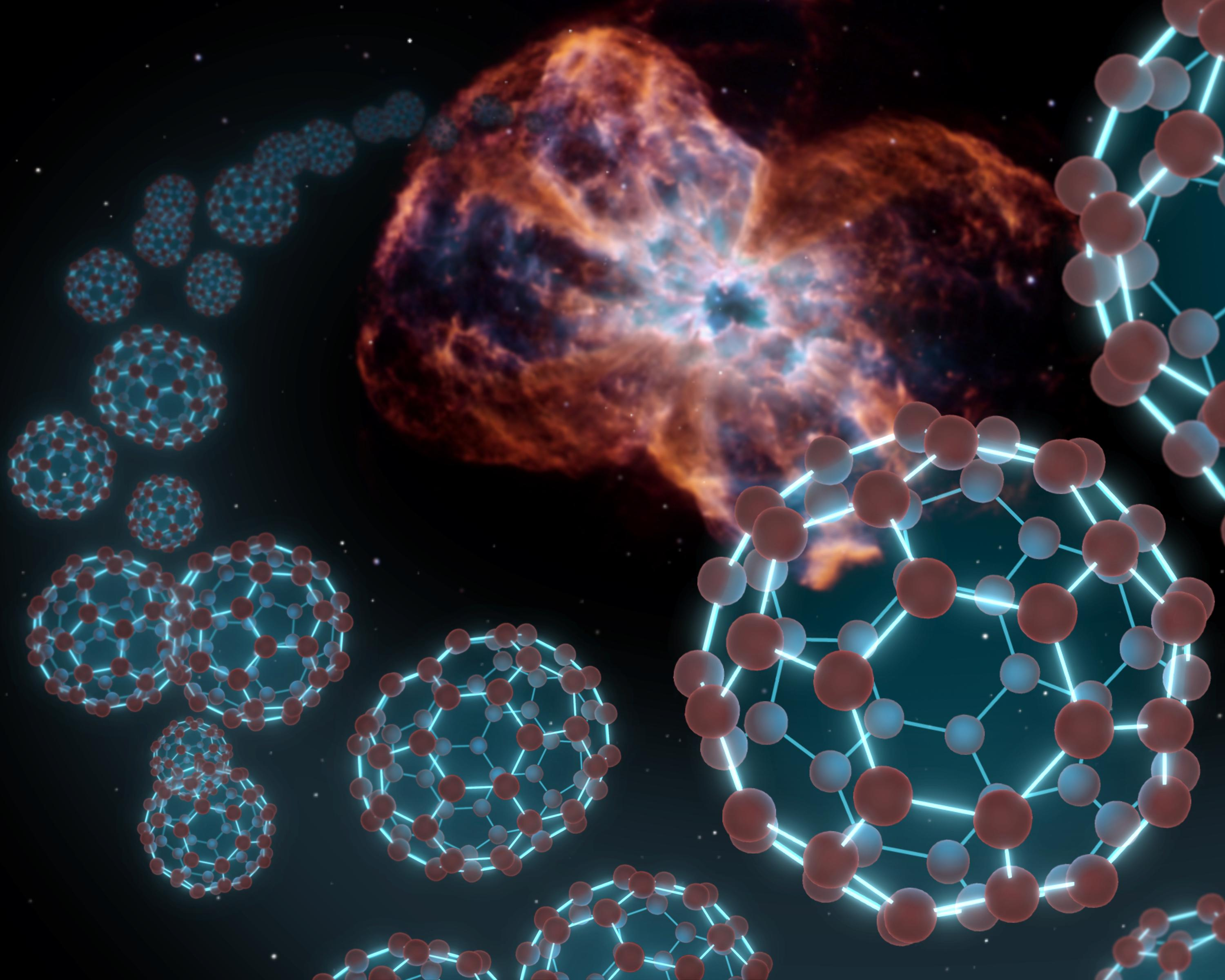 "Experiment shows how ""synthetic"" buckyballs form in interstellar space"