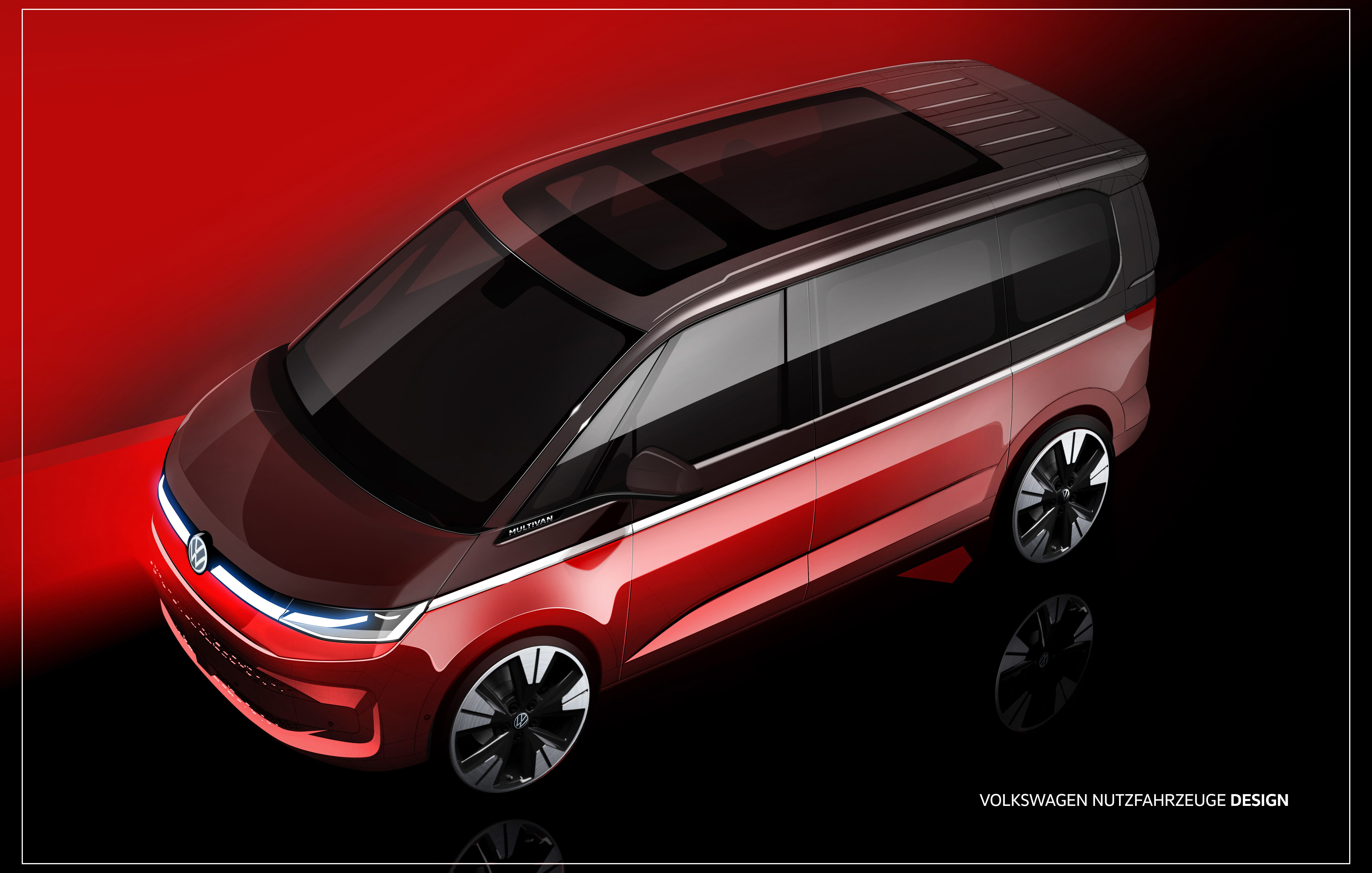 Volkswagen previews the shape and style of the new T7 Multivan