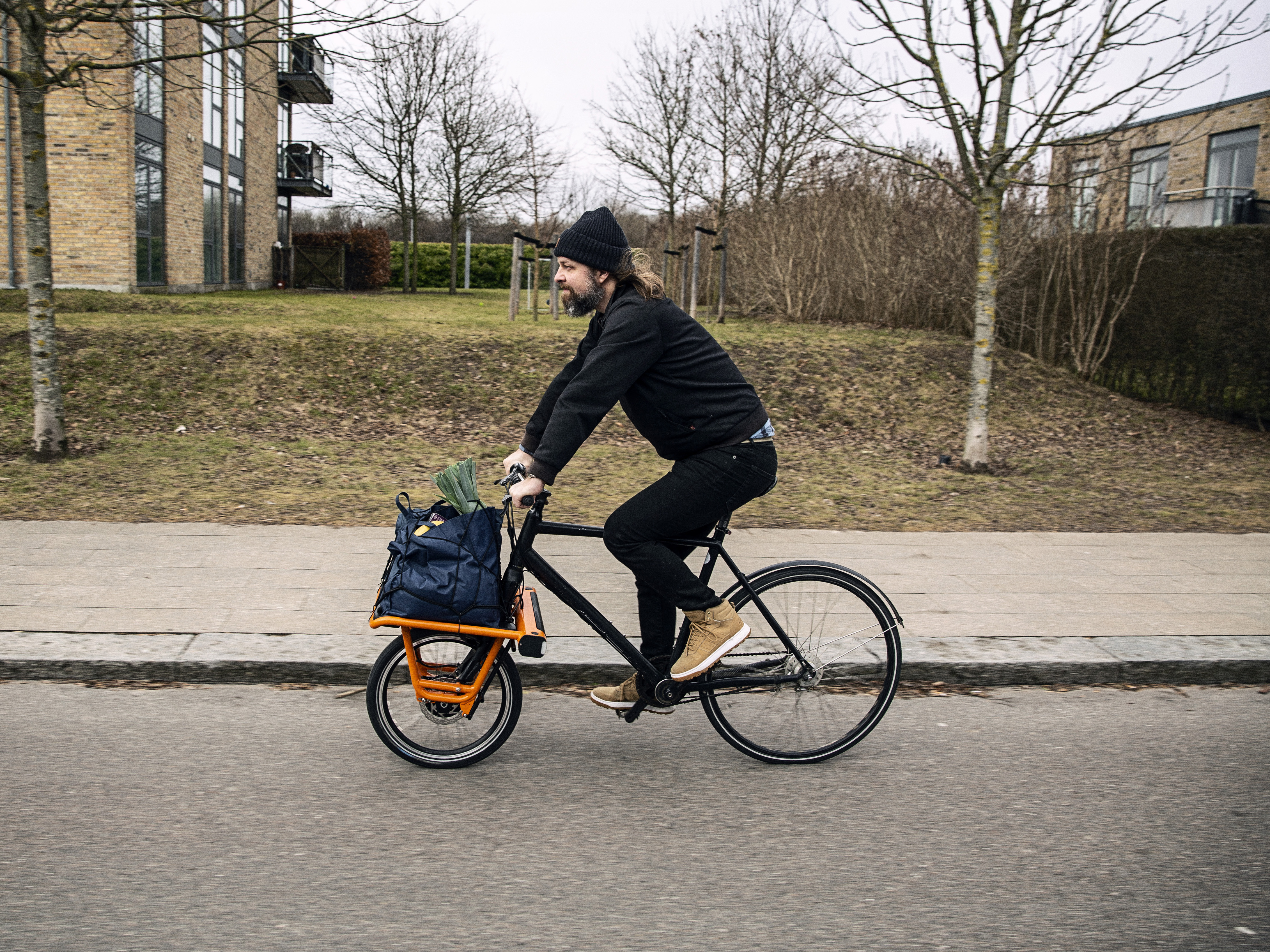 The CargoDrive kit is said to be compatible with most upright bicycles