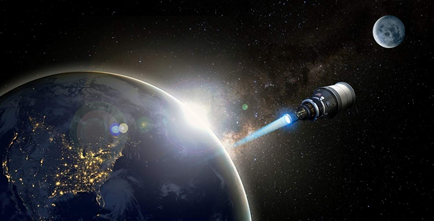 Artist's concept of a nuclear-propelled spacecraft
