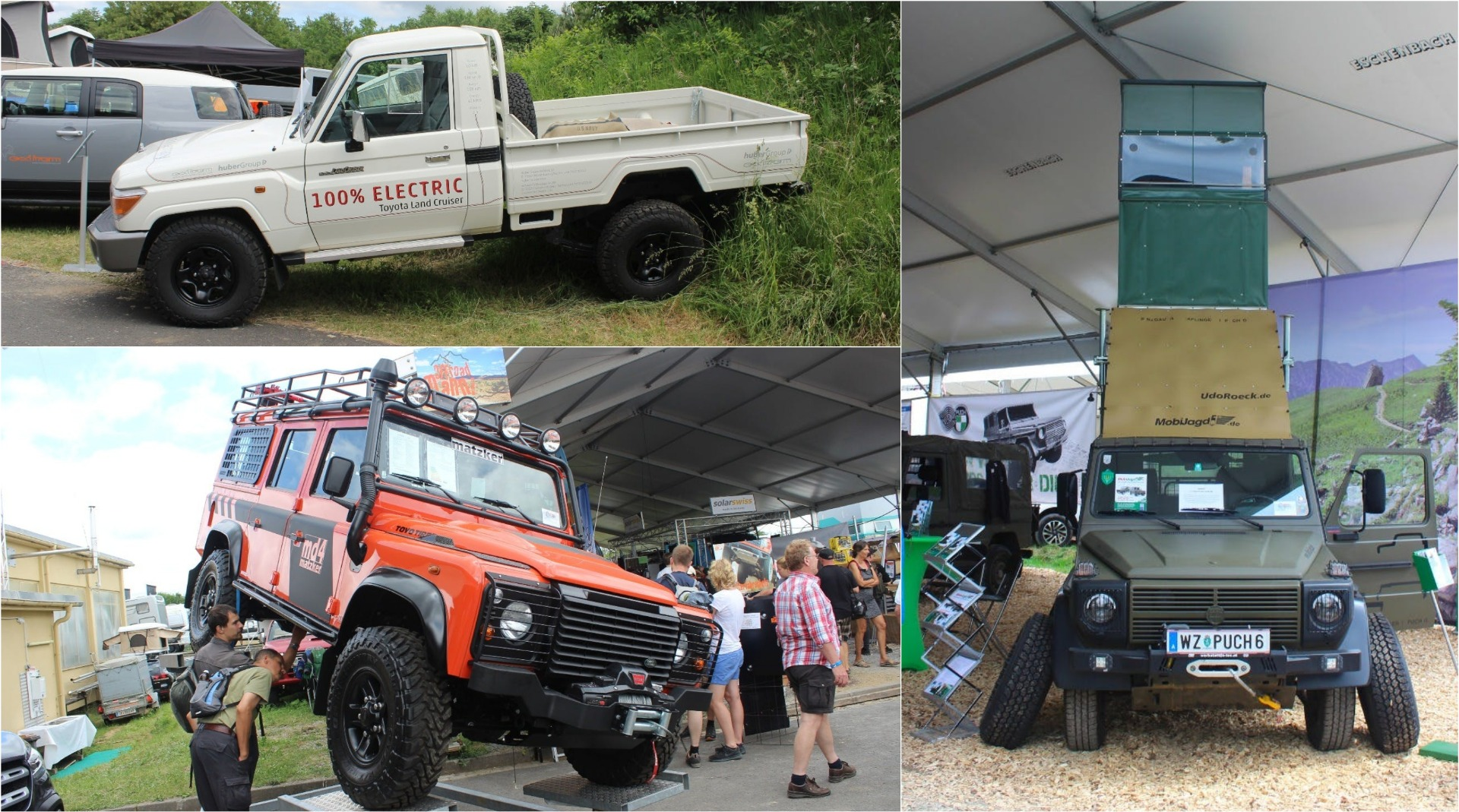 Electric Land Cruisers, 3-story G-Wagens and more from
