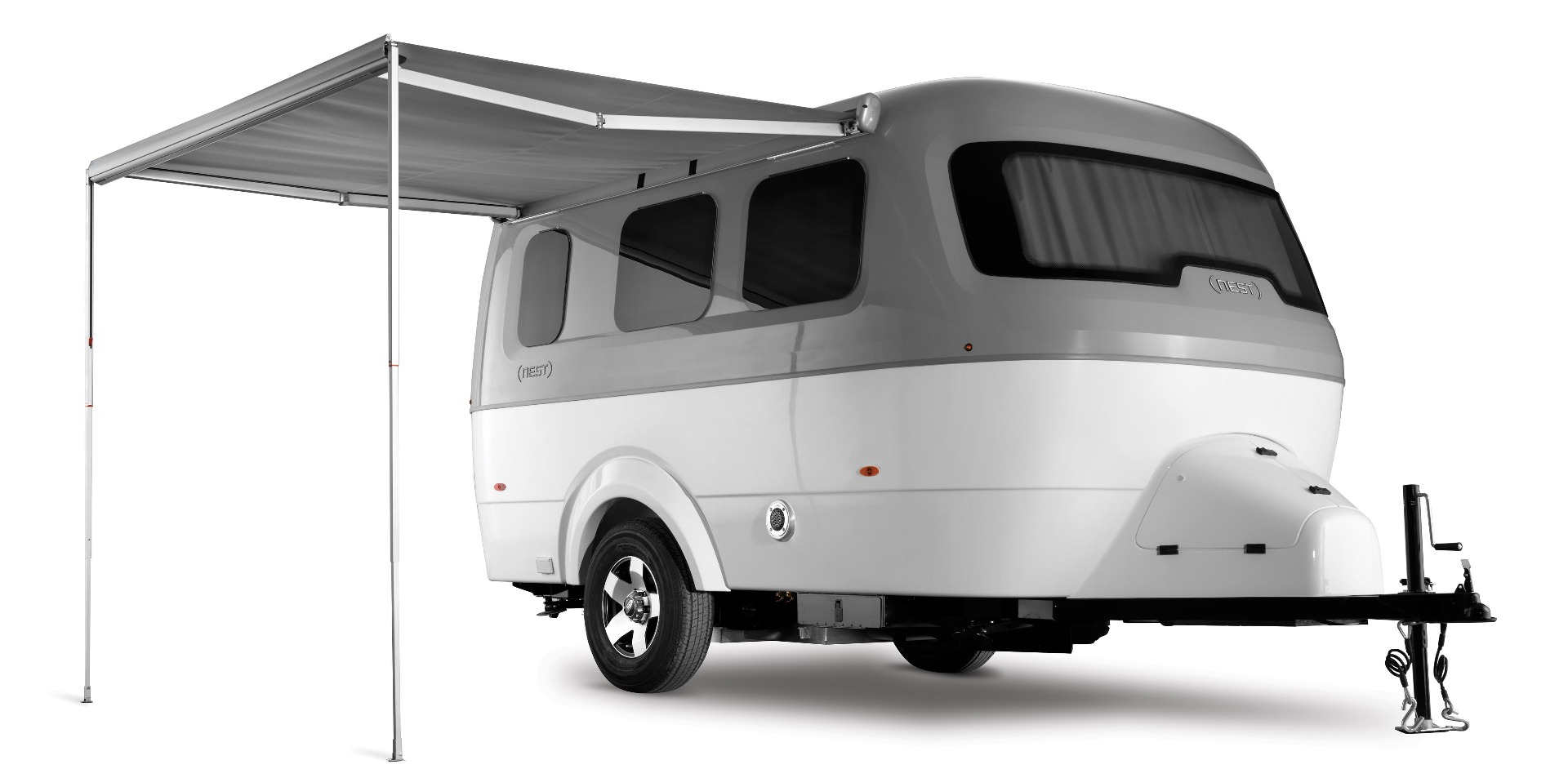 Airstream sheds its aluminum shell with the Nest fiberglass glamper