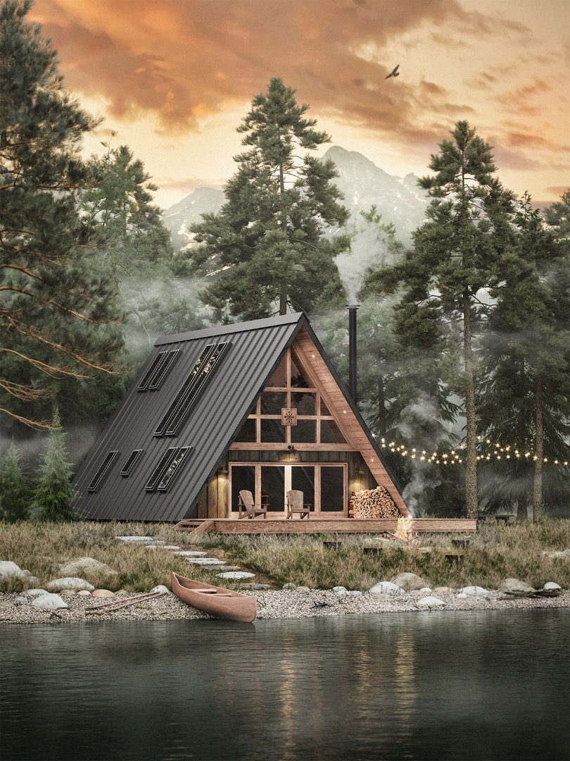 Ayfraym cabin lets you DIY or buy