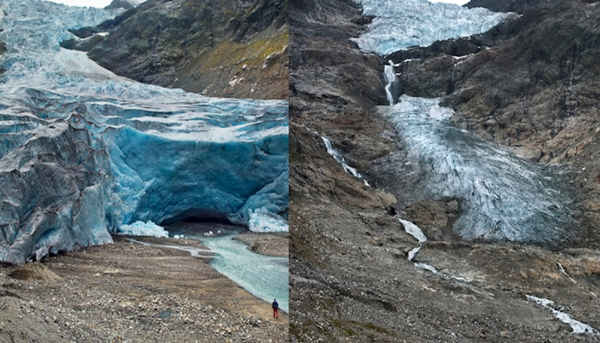 Before & after photos of melting glaciers capture climate change in action