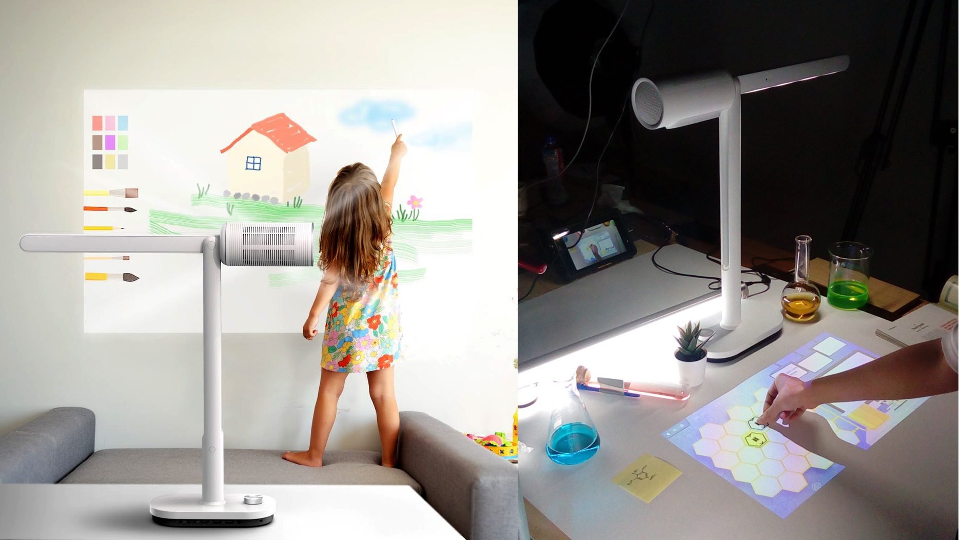 Lumi lamp containing computer and projector could be a form factor of the future