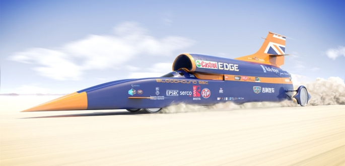 The goal of the project was to*build a car that could reach 1,000 mph (1,600 km/h)