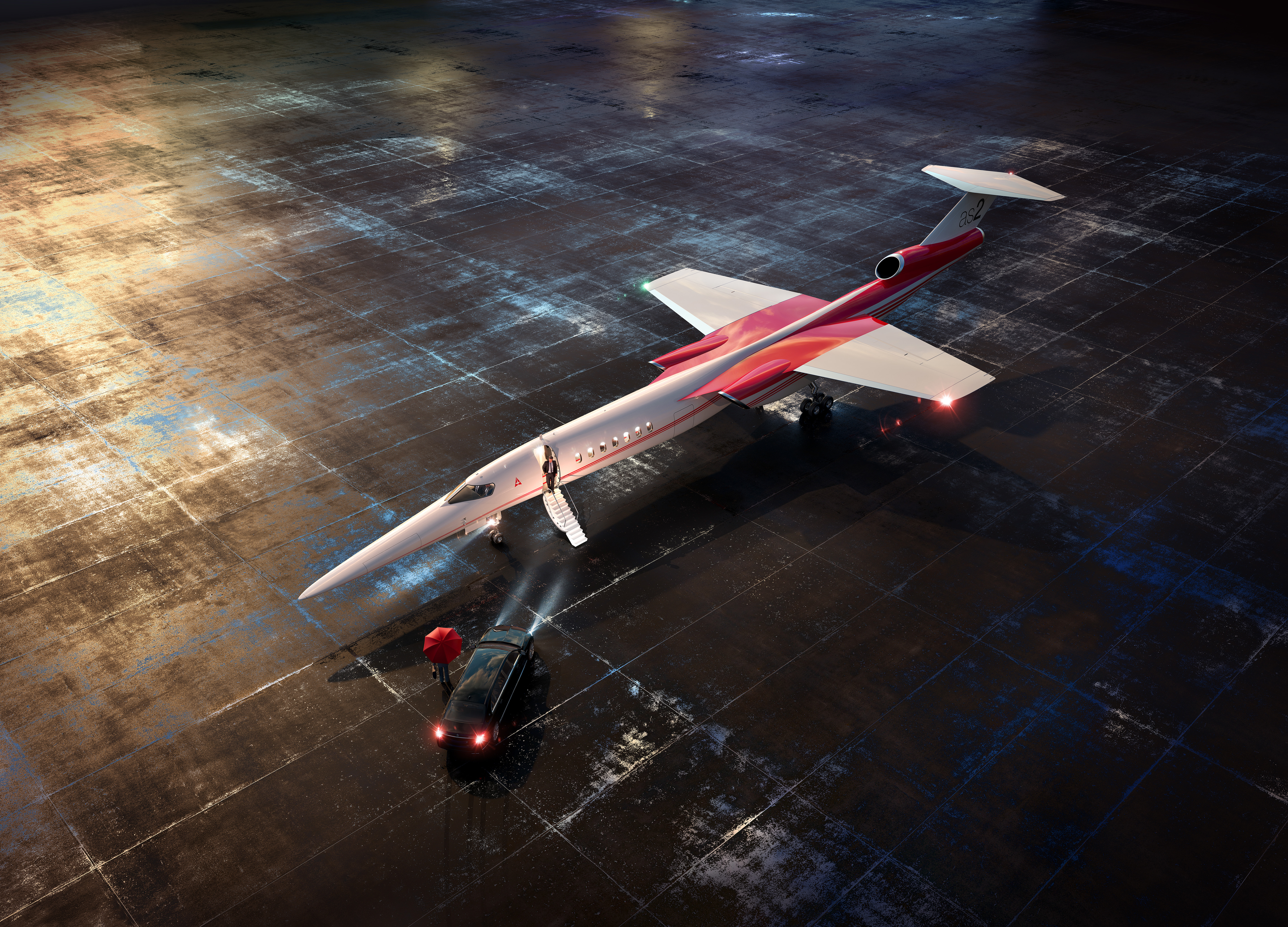 A render of Aerion's AS2 supersonic jet