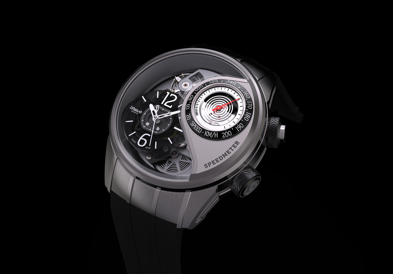 Breva's latest watch packs a pop-up speedometer
