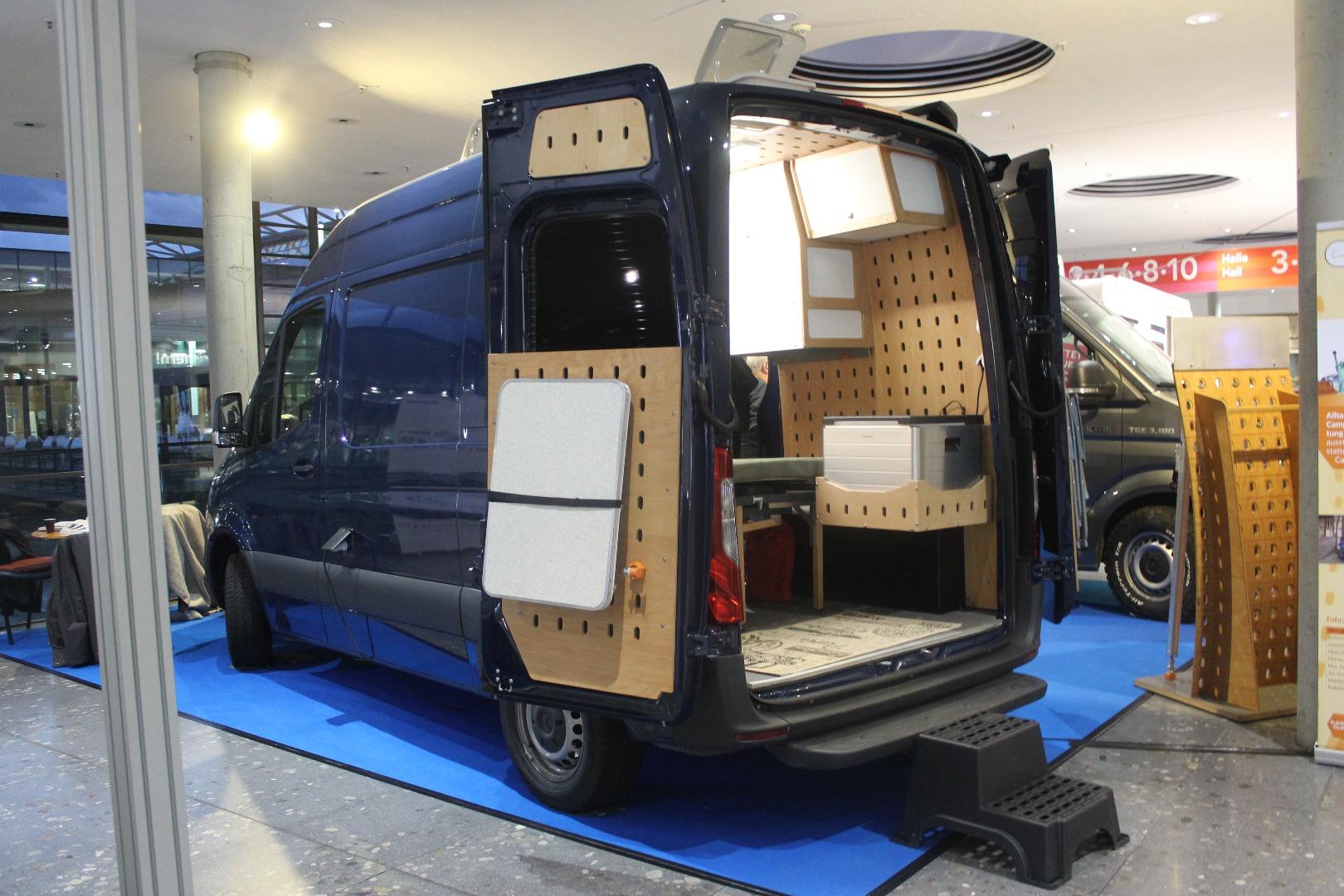 Cargo Camper uses oversized pegboard to create ultra-versatile modular camper vans