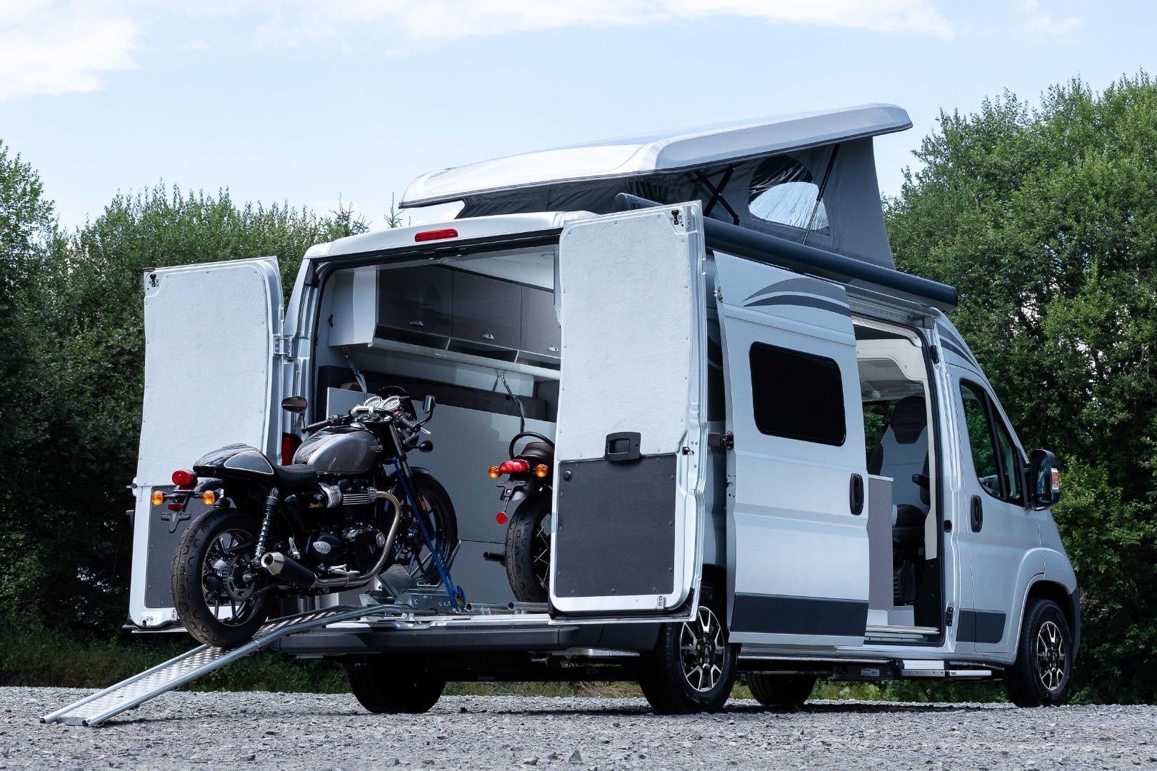 Citroën goes motorcycle camping with Jumper Biker camper van